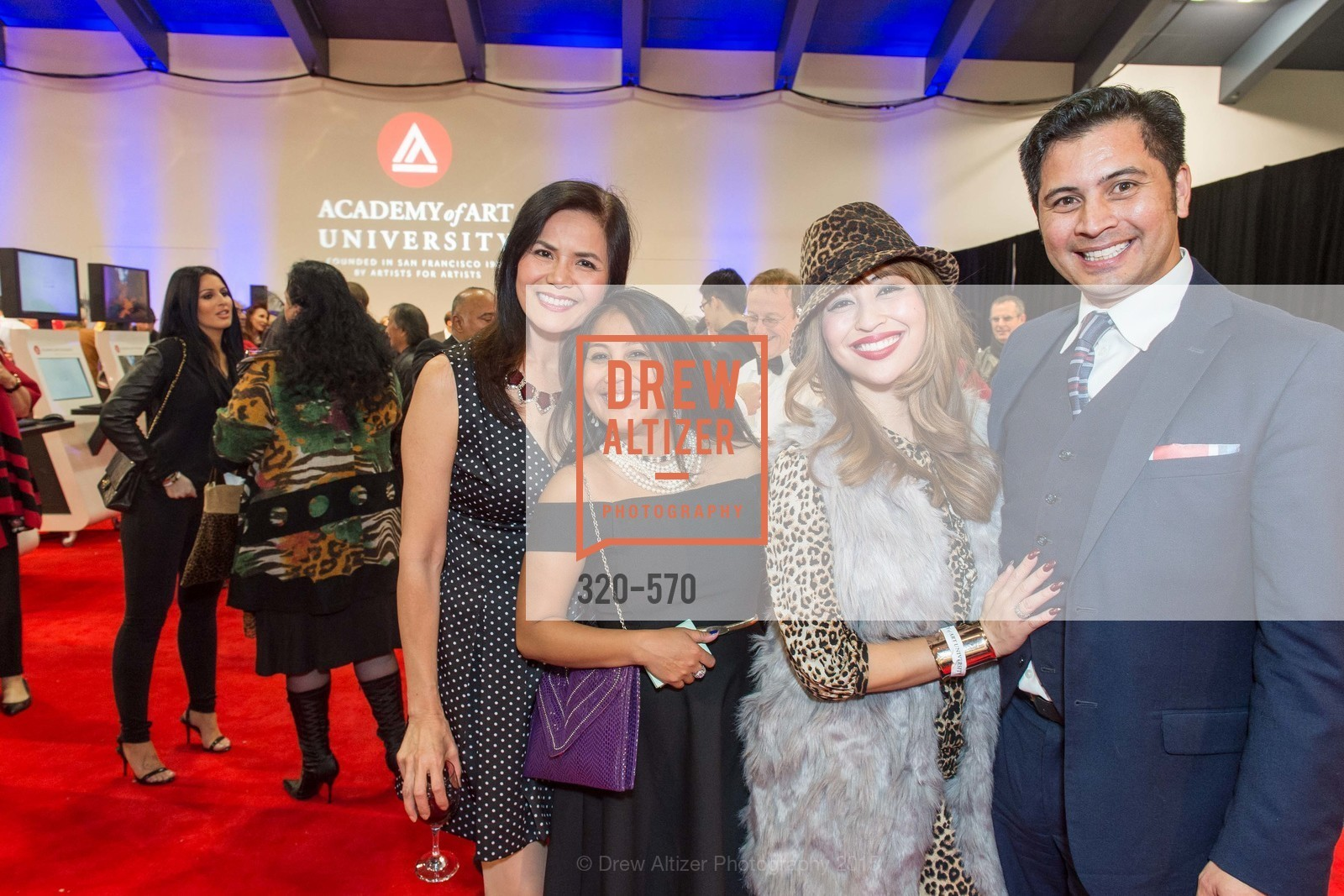Cathy Nazarbegian, Dia Ates, Charlotte Mayang, Rafael Musni, Academy of Art University Reception at the 58th Annual SF International Auto Show, Moscone Convention Center. 747 Howard St, November 20th, 2015,Drew Altizer, Drew Altizer Photography, full-service agency, private events, San Francisco photographer, photographer california