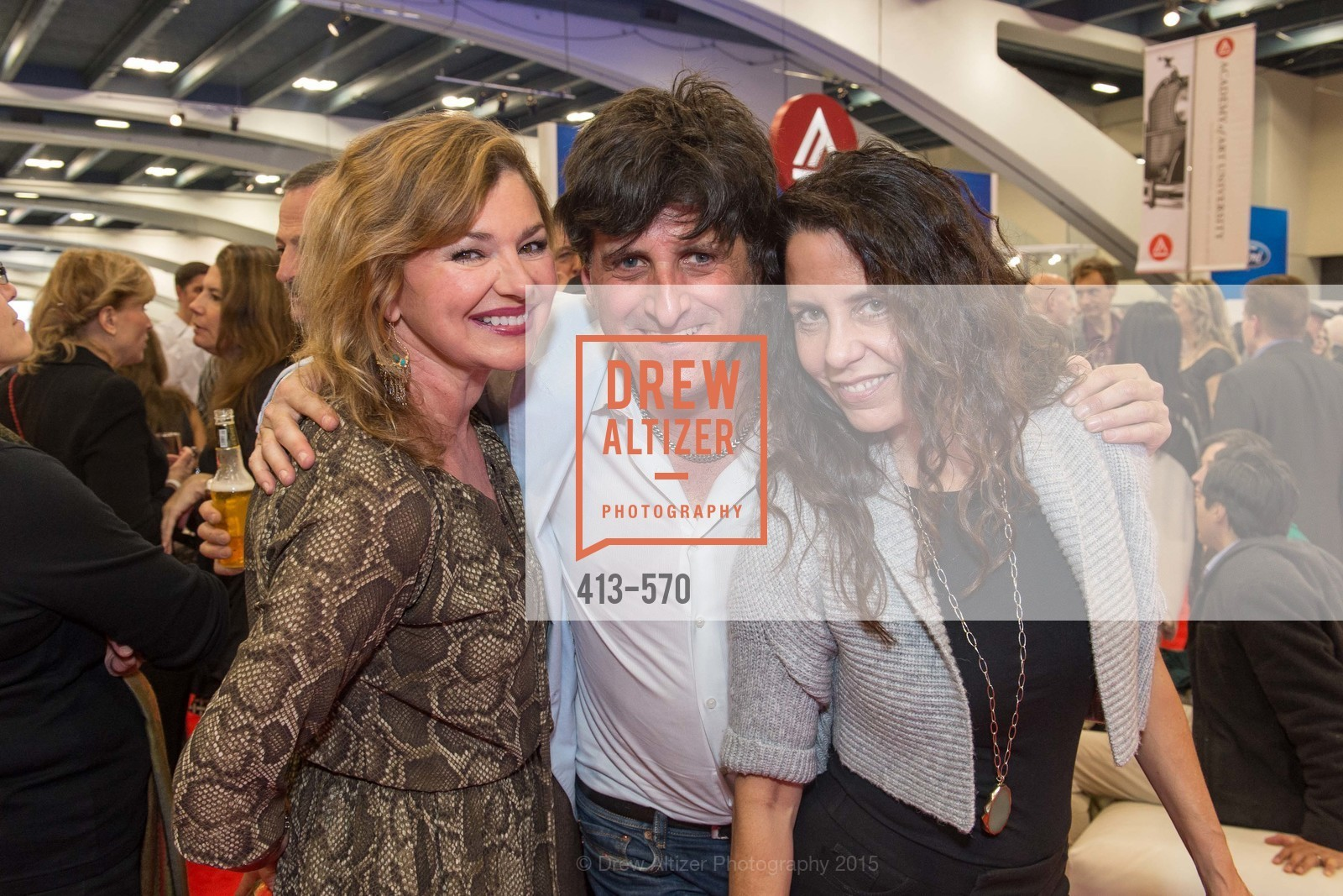 Liz Hill, Mark Ferrari, Gina Domizio, Academy of Art University Reception at the 58th Annual SF International Auto Show, Moscone Convention Center. 747 Howard St, November 20th, 2015,Drew Altizer, Drew Altizer Photography, full-service agency, private events, San Francisco photographer, photographer california