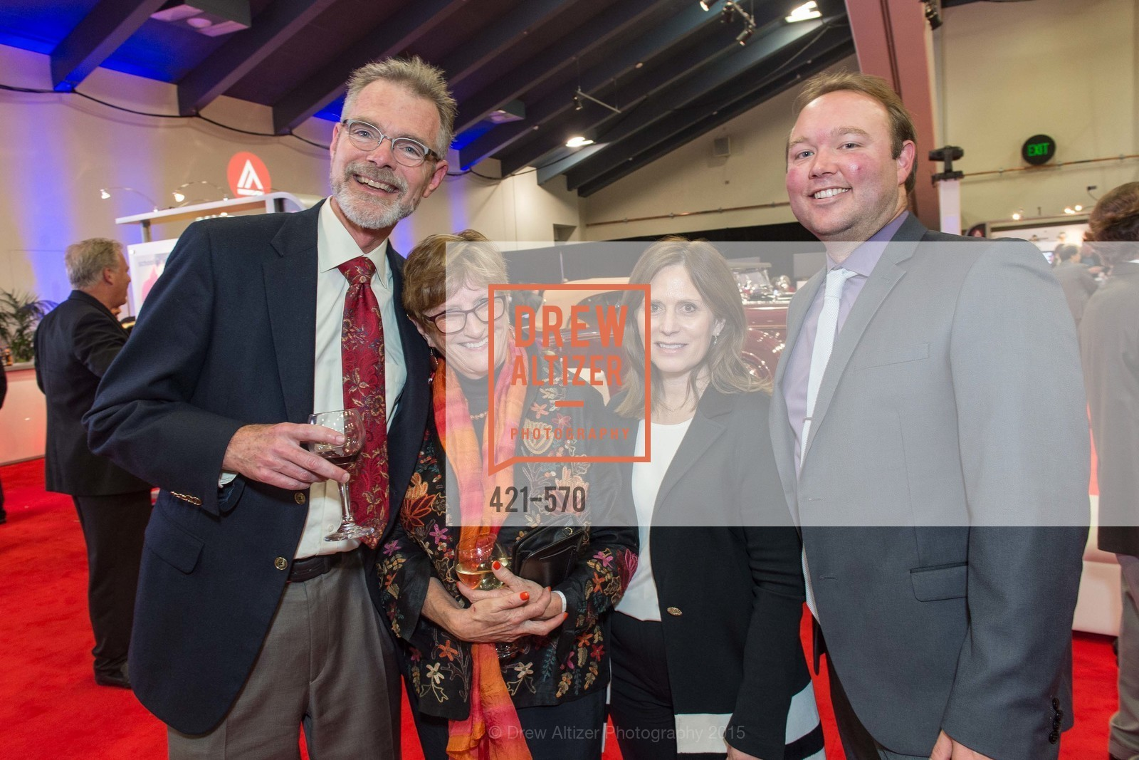 Chuck Pyle, Tina Hittenberger, Alana Addison, Haydn Adams, Academy of Art University Reception at the 58th Annual SF International Auto Show, Moscone Convention Center. 747 Howard St, November 20th, 2015,Drew Altizer, Drew Altizer Photography, full-service agency, private events, San Francisco photographer, photographer california