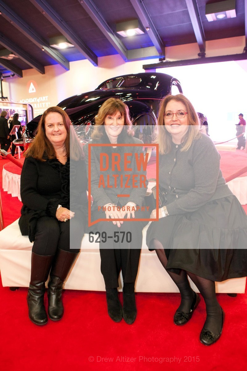 Denise Gage, Bonnie McElfresh, Belinda Steyer, Academy of Art University Reception at the 58th Annual SF International Auto Show, Moscone Convention Center. 747 Howard St, November 20th, 2015,Drew Altizer, Drew Altizer Photography, full-service agency, private events, San Francisco photographer, photographer california
