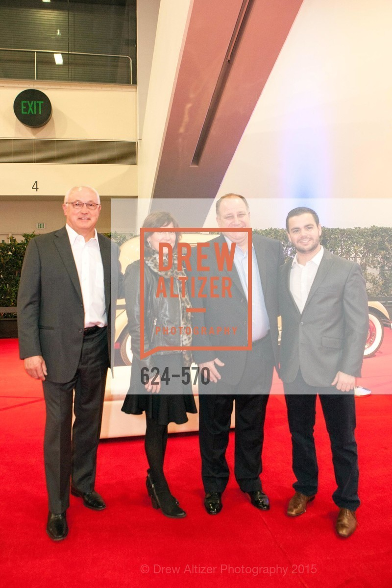 Mike Common, Nancy Common, Bruce Ferrario, Gino Ferrario, Academy of Art University Reception at the 58th Annual SF International Auto Show, Moscone Convention Center. 747 Howard St, November 20th, 2015,Drew Altizer, Drew Altizer Photography, full-service agency, private events, San Francisco photographer, photographer california