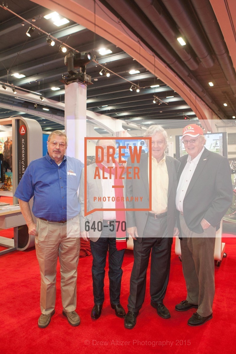 John Hurabiell, Tom Quigg, Robert Hall, Randy Steyer, Academy of Art University Reception at the 58th Annual SF International Auto Show, Moscone Convention Center. 747 Howard St, November 20th, 2015,Drew Altizer, Drew Altizer Photography, full-service agency, private events, San Francisco photographer, photographer california