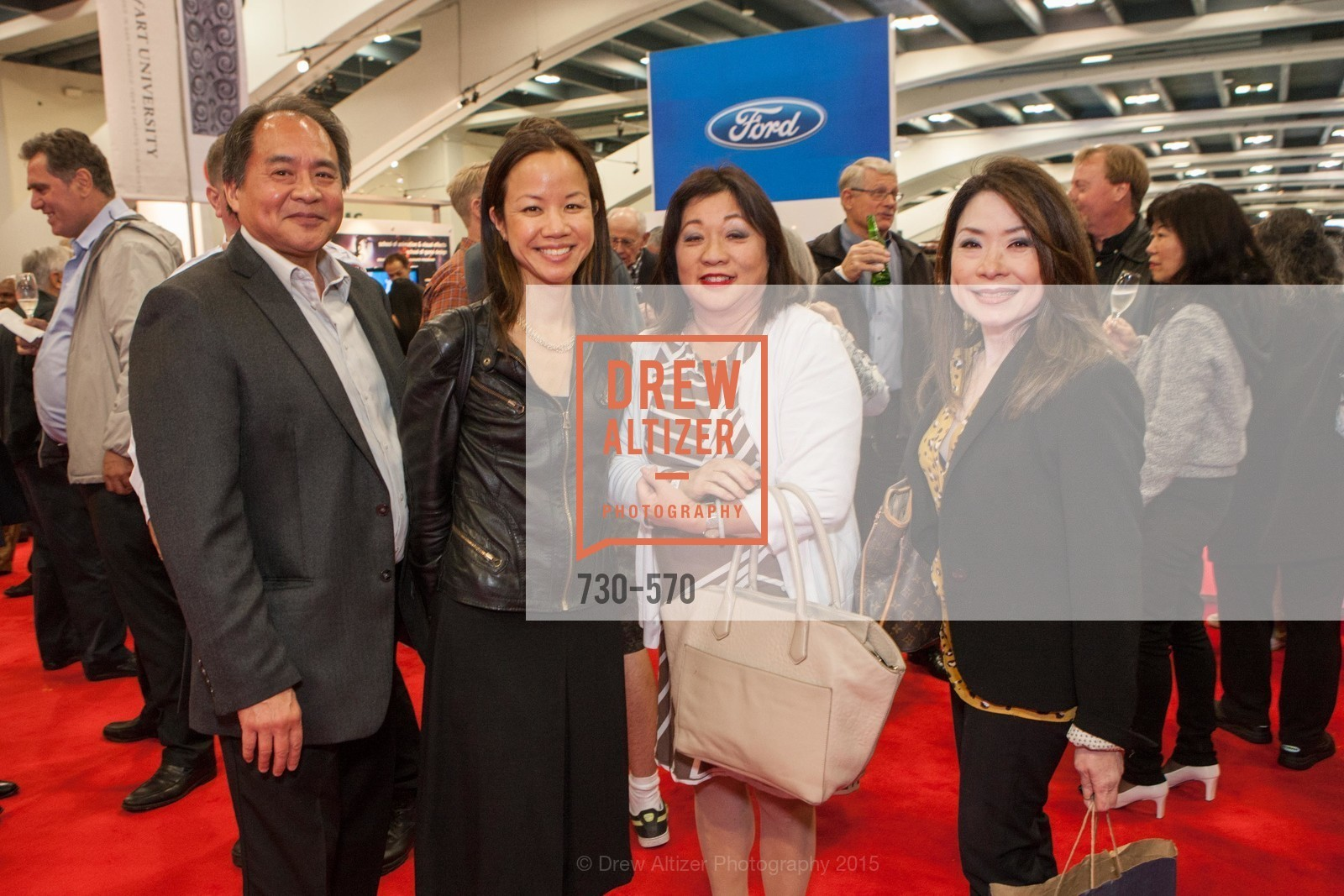Richard Fiu, Amy Shieh, Beverly Lee, Alice Ng, Academy of Art University Reception at the 58th Annual SF International Auto Show, Moscone Convention Center. 747 Howard St, November 20th, 2015,Drew Altizer, Drew Altizer Photography, full-service agency, private events, San Francisco photographer, photographer california