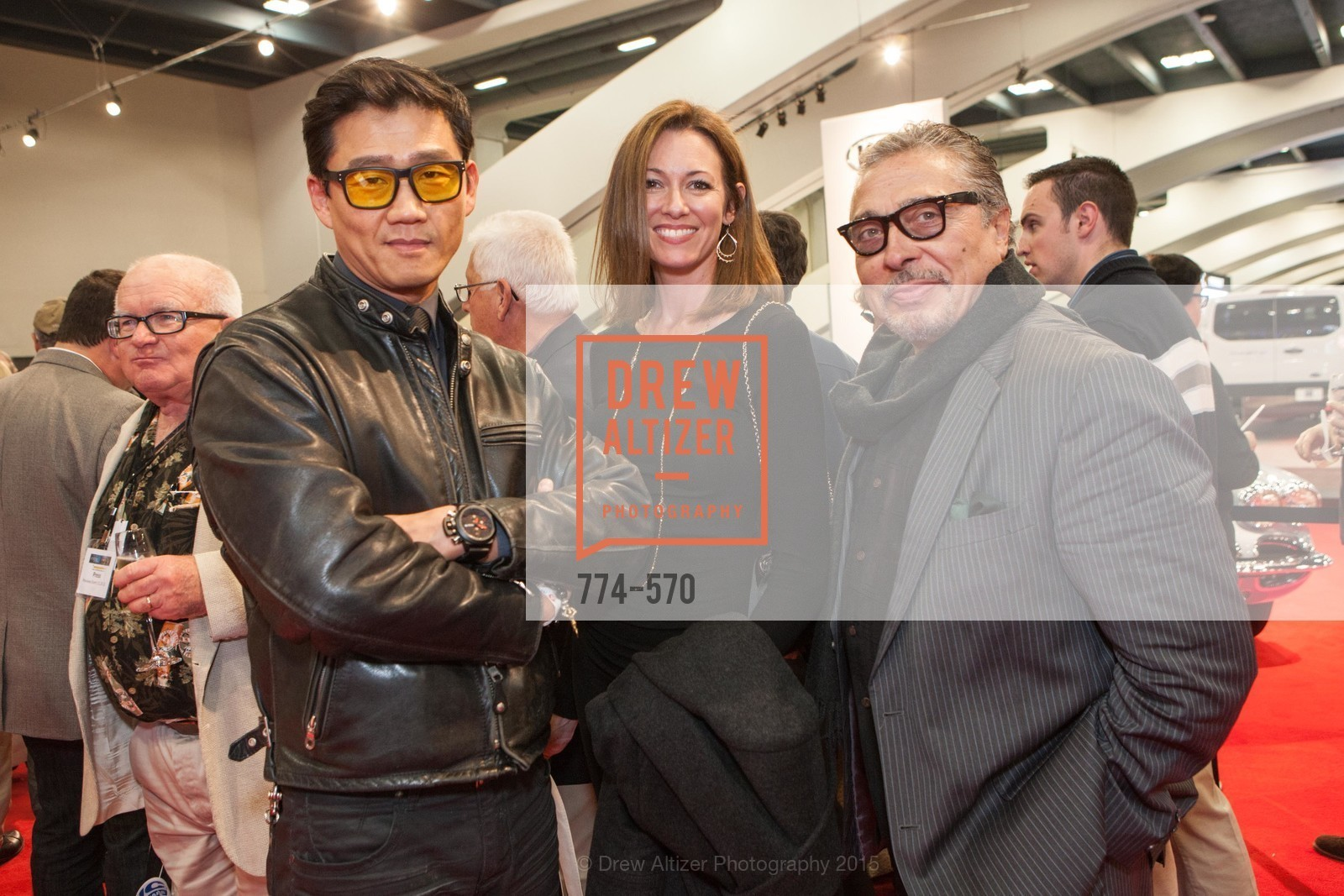 Philippe Lee, Melanie Clampit, Kam Amjadi, Academy of Art University Reception at the 58th Annual SF International Auto Show, Moscone Convention Center. 747 Howard St, November 20th, 2015,Drew Altizer, Drew Altizer Photography, full-service agency, private events, San Francisco photographer, photographer california
