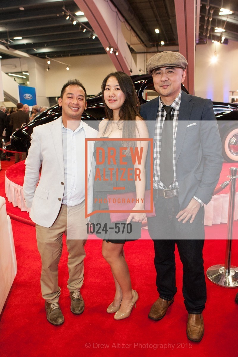 Sherwin Lee, Cathy Yin, Mark Javier, Academy of Art University Reception at the 58th Annual SF International Auto Show, Moscone Convention Center. 747 Howard St, November 20th, 2015,Drew Altizer, Drew Altizer Photography, full-service event agency, private events, San Francisco photographer, photographer California