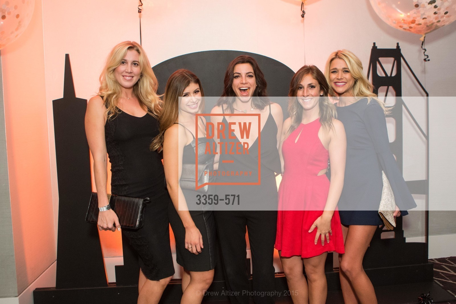 Kelly Connolly, Shira Peleg, Hannah Levin, Emily Hanks, Megan Ortisi, The 10th Annual San Francisco Social, W Hotel. 181 3rd St, November 21st, 2015,Drew Altizer, Drew Altizer Photography, full-service agency, private events, San Francisco photographer, photographer california