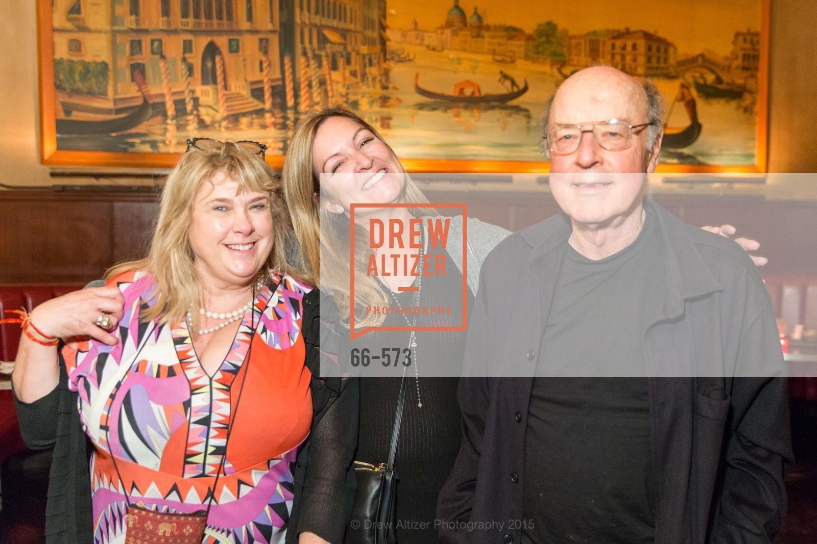 Colleen Camp, Julie Huntsinger, Tom Luddy, The Big Short screening afterparty at Tosca, Tosca. 242 Columbus Ave, November 20th, 2015,Drew Altizer, Drew Altizer Photography, full-service agency, private events, San Francisco photographer, photographer california