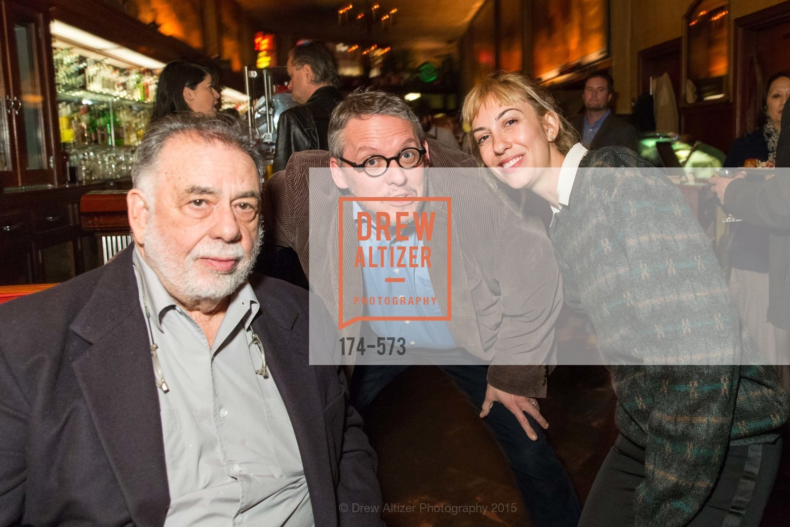 Francis Ford Coppola, Adam McKay, Gia Coppola, The Big Short screening afterparty at Tosca, Tosca. 242 Columbus Ave, November 20th, 2015,Drew Altizer, Drew Altizer Photography, full-service agency, private events, San Francisco photographer, photographer california