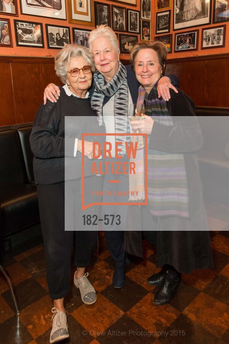 Jeanette Etheredge, Eleanor Coppola, Alice Waters, The Big Short screening afterparty at Tosca, Tosca. 242 Columbus Ave, November 20th, 2015,Drew Altizer, Drew Altizer Photography, full-service agency, private events, San Francisco photographer, photographer california