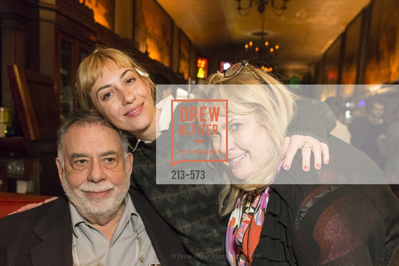 Francis Ford Coppola, Gia Coppola, Colleen Camp, The Big Short screening afterparty at Tosca, Tosca. 242 Columbus Ave, November 20th, 2015,Drew Altizer, Drew Altizer Photography, full-service agency, private events, San Francisco photographer, photographer california