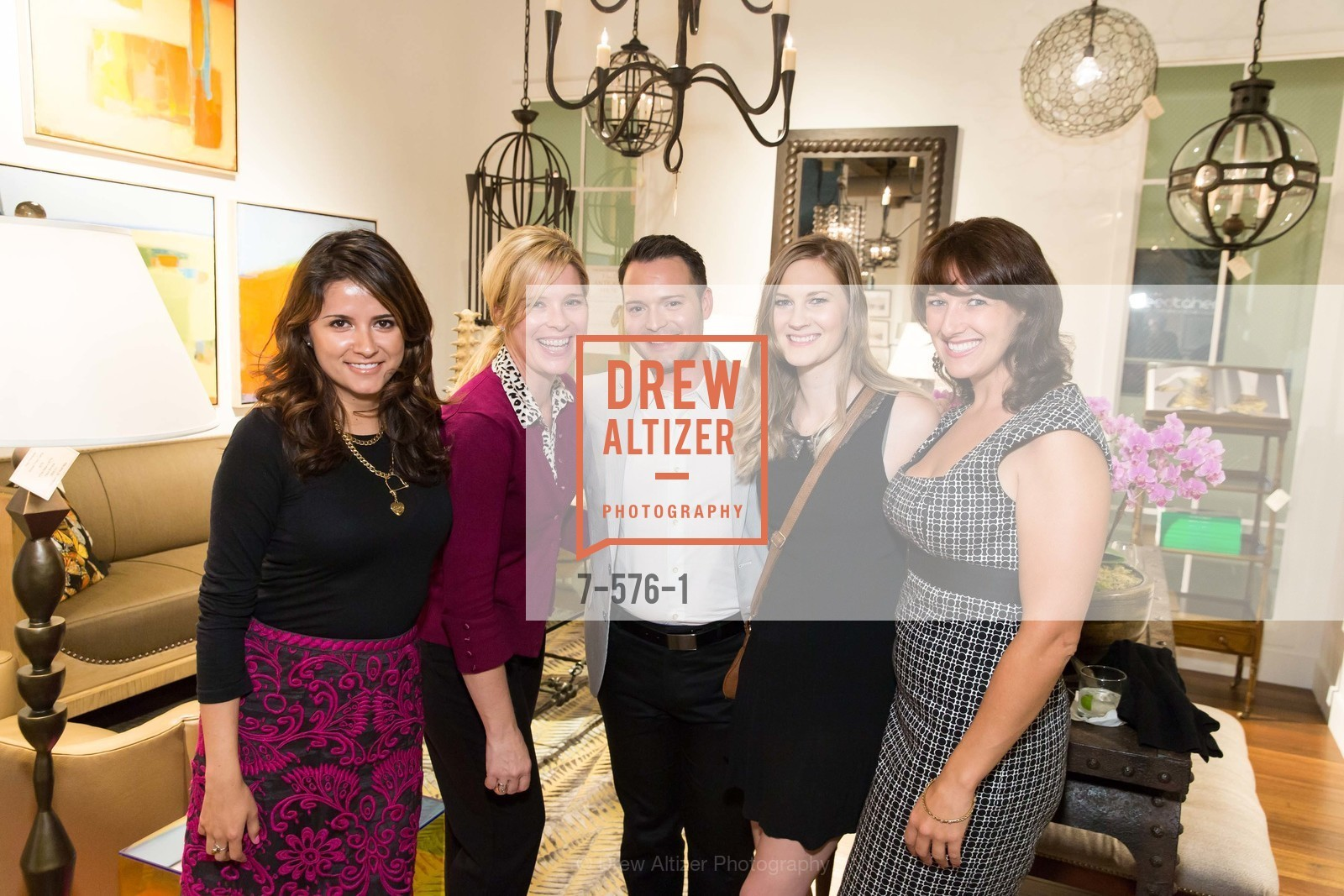 Pamela Lastiri, Barbara Acord, Erin Bujak, Janell Johnson, Sarah Puls, SF FALL ANTIQUES SHOW Designer's Circle Cocktail Party at HEWN, US, September 23rd, 2014,Drew Altizer, Drew Altizer Photography, full-service agency, private events, San Francisco photographer, photographer california