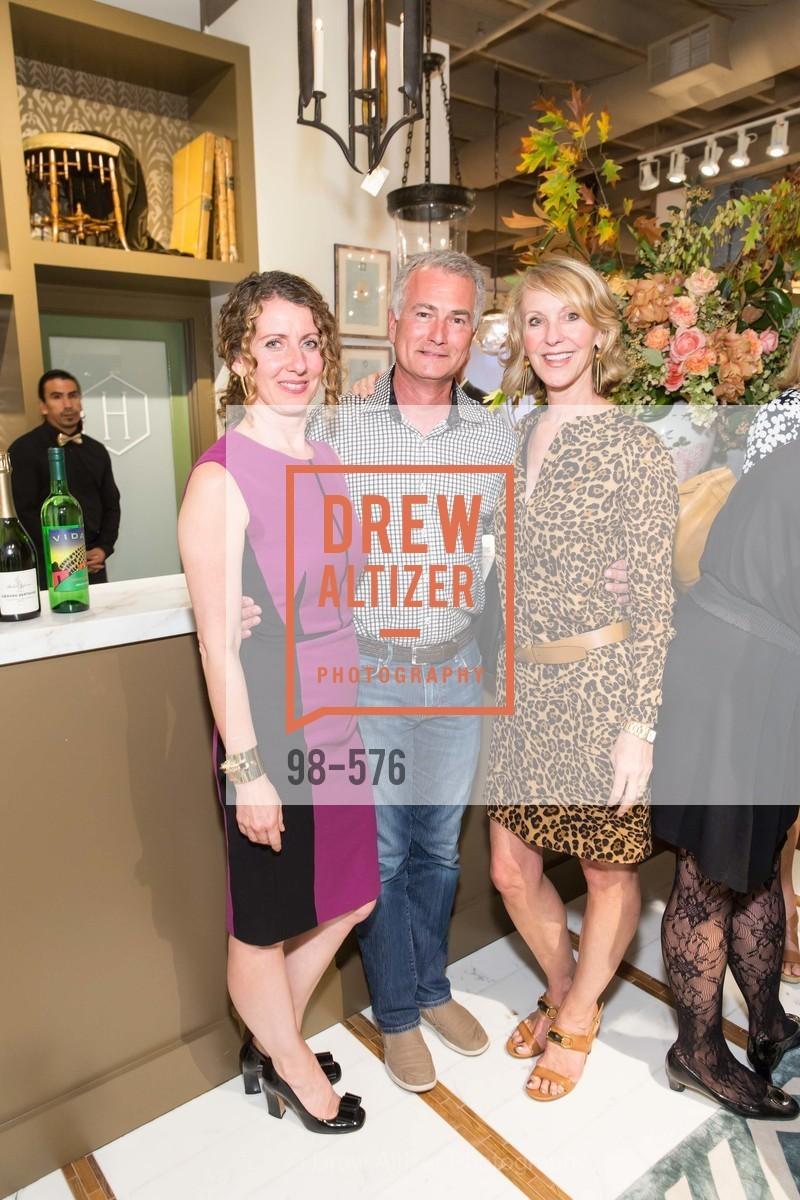 Kathleen Navarra, Kurt Neubert, Laura Hunt, SF FALL ANTIQUES SHOW Designer's Circle Cocktail Party at HEWN, US, September 23rd, 2014