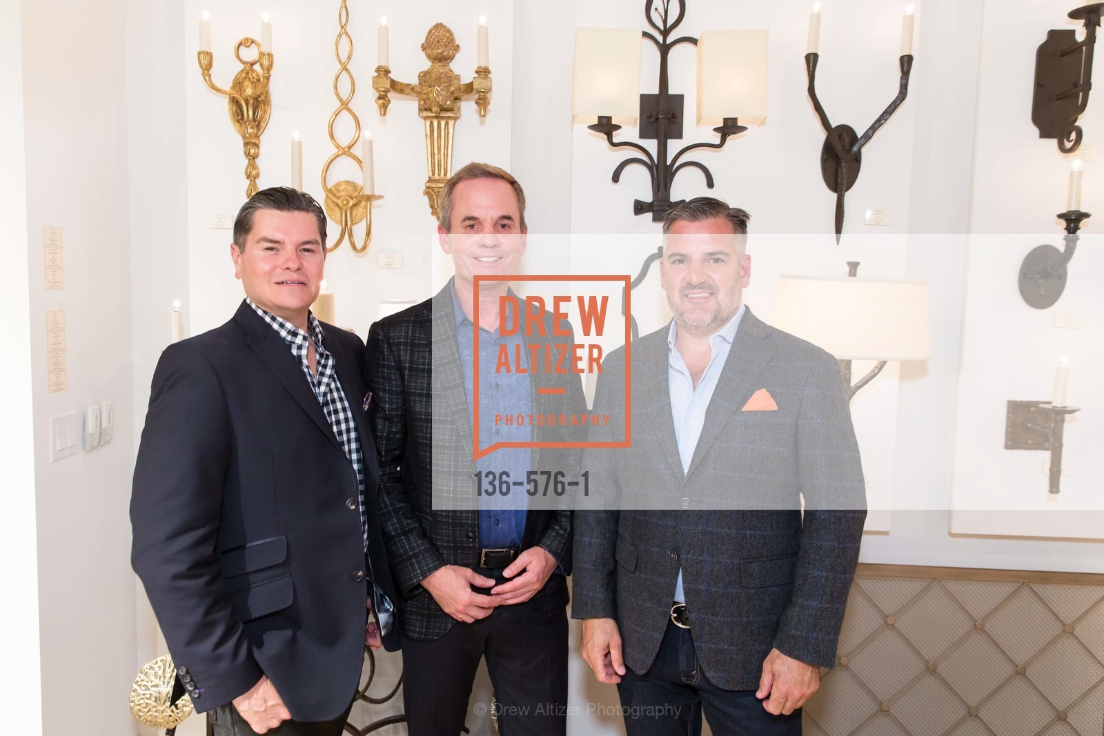Chris Meza, Peter Mueller, Tim Graffigna, SF FALL ANTIQUES SHOW Designer's Circle Cocktail Party at HEWN, US, September 23rd, 2014,Drew Altizer, Drew Altizer Photography, full-service agency, private events, San Francisco photographer, photographer california