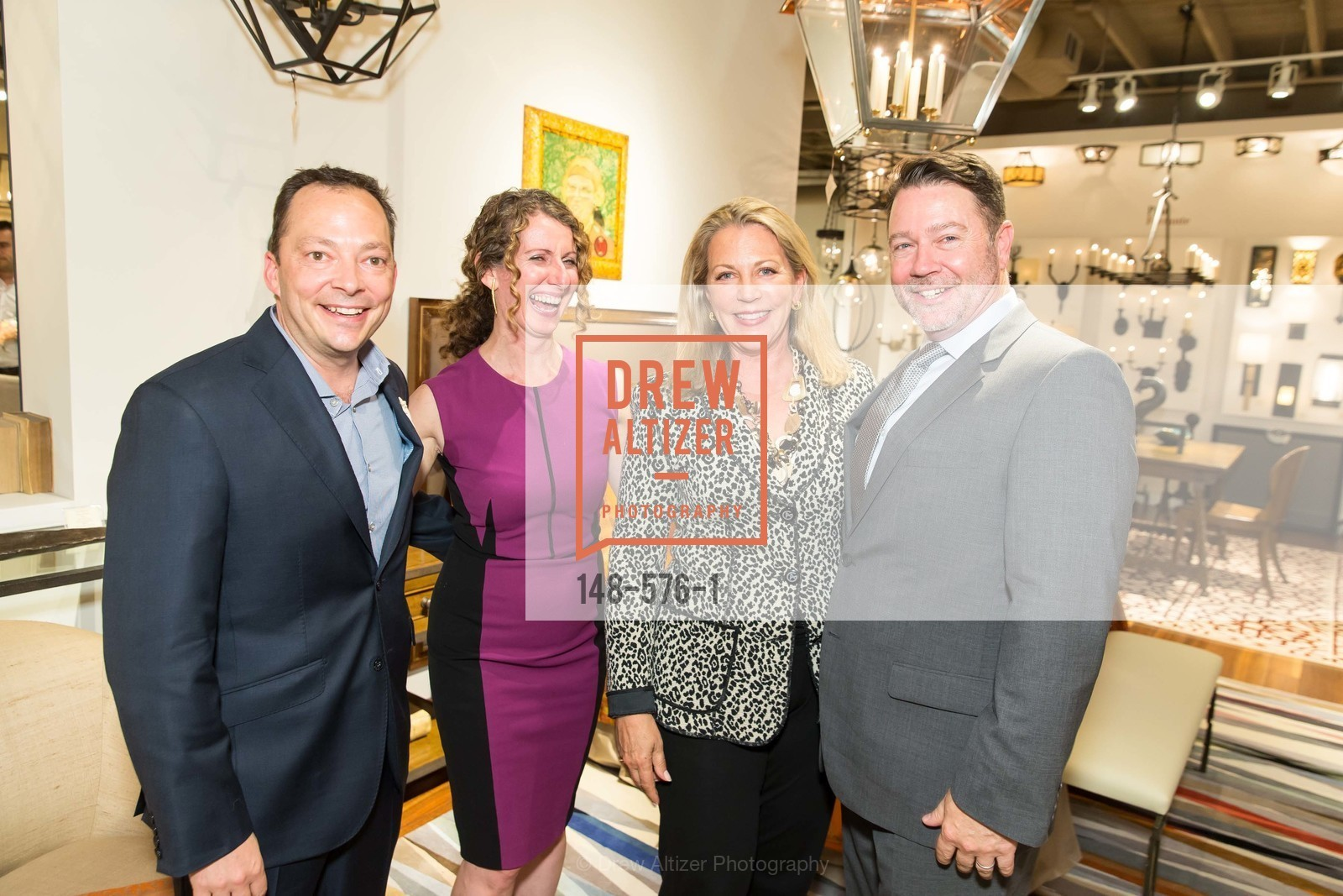 Peter West, Kathleen Navarra, Suzanne Tucker, Jeff Holt, SF FALL ANTIQUES SHOW Designer's Circle Cocktail Party at HEWN, US, September 23rd, 2014,Drew Altizer, Drew Altizer Photography, full-service agency, private events, San Francisco photographer, photographer california