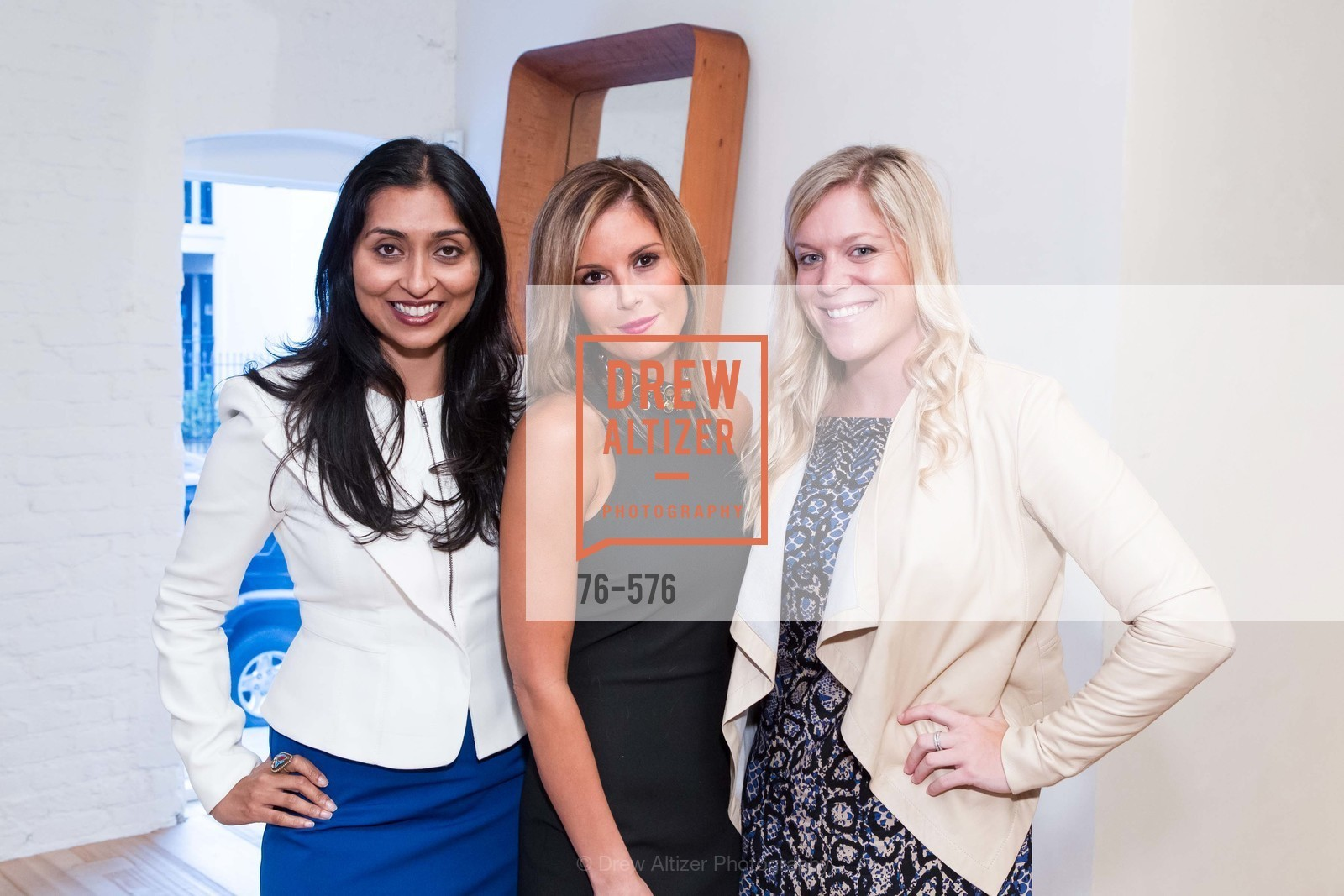 Smrithi Prabhu, Tara Loller, Merritt Fog, SF FALL ANTIQUES SHOW Designer's Circle Cocktail Party at HEWN, US, September 23rd, 2014,Drew Altizer, Drew Altizer Photography, full-service agency, private events, San Francisco photographer, photographer california