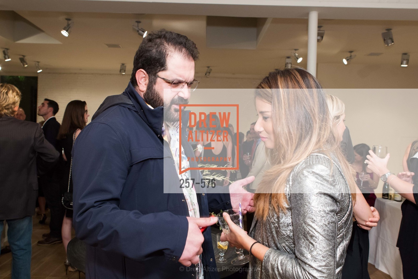 Shervin Pishevar, Evelyn Rusli, SF FALL ANTIQUES SHOW Designer's Circle Cocktail Party at HEWN, US, September 23rd, 2014,Drew Altizer, Drew Altizer Photography, full-service event agency, private events, San Francisco photographer, photographer California