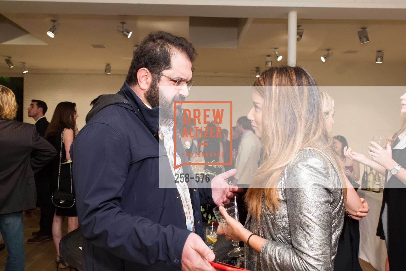 Shervin Pishevar, Evelyn Rusli, SF FALL ANTIQUES SHOW Designer's Circle Cocktail Party at HEWN, US, September 23rd, 2014,Drew Altizer, Drew Altizer Photography, full-service agency, private events, San Francisco photographer, photographer california