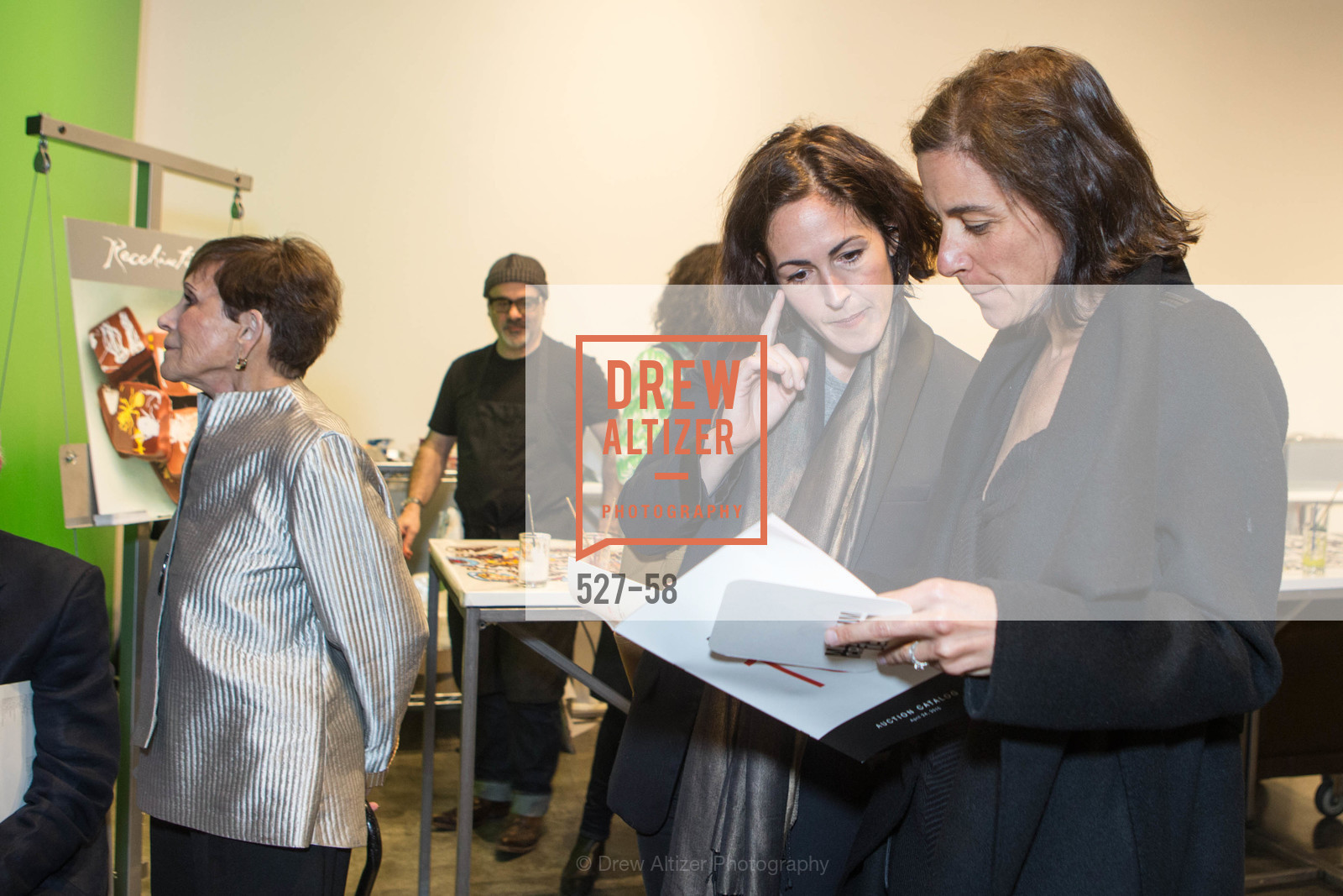 Wendy MacNaughton, Alison Ariess, Design10 Anniversary Auction Hosted by the Museum of Craft and Design, Museum of Craft and Design, April 24th, 2015,Drew Altizer, Drew Altizer Photography, full-service agency, private events, San Francisco photographer, photographer california