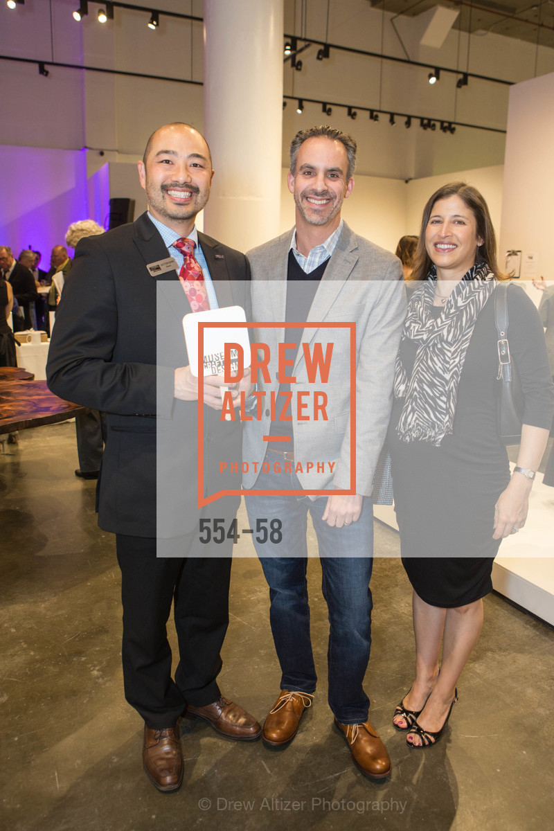 Victor Shin, Jeremy Kaplan, Silvia Kaplan, Design10 Anniversary Auction Hosted by the Museum of Craft and Design, Museum of Craft and Design, April 24th, 2015,Drew Altizer, Drew Altizer Photography, full-service agency, private events, San Francisco photographer, photographer california