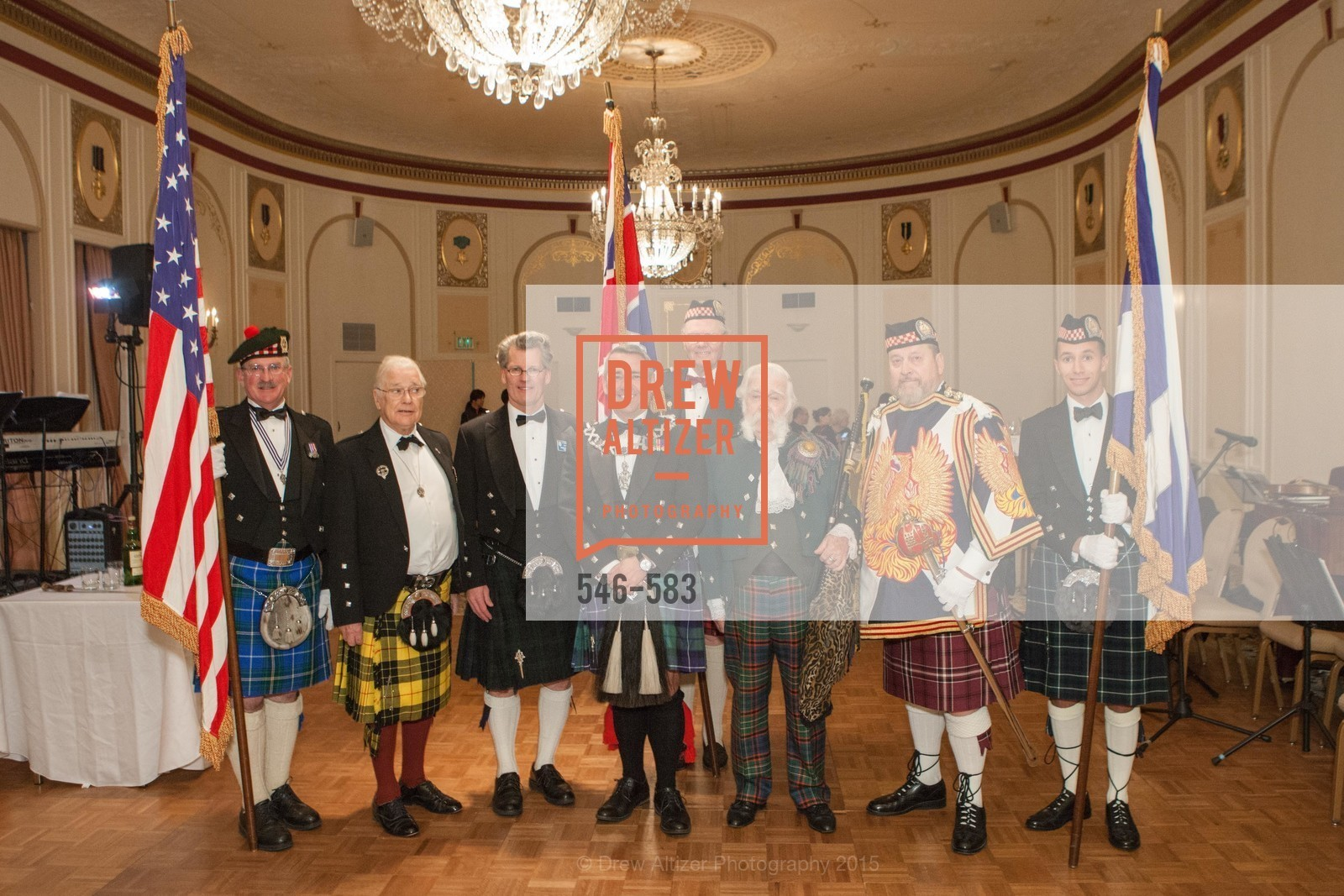 Fred Rutledge, David Campbell, Jamie Koyil, Allen Cary, Jek Cunningham, Bill Jaggers, Sola Peterson-Marke, St. Andrew's Society of San Francisco Annual Banquet and Ball 2015, Marines' Memorial Club & Hotel. 609 Sutter St, November 28th, 2015,Drew Altizer, Drew Altizer Photography, full-service agency, private events, San Francisco photographer, photographer california