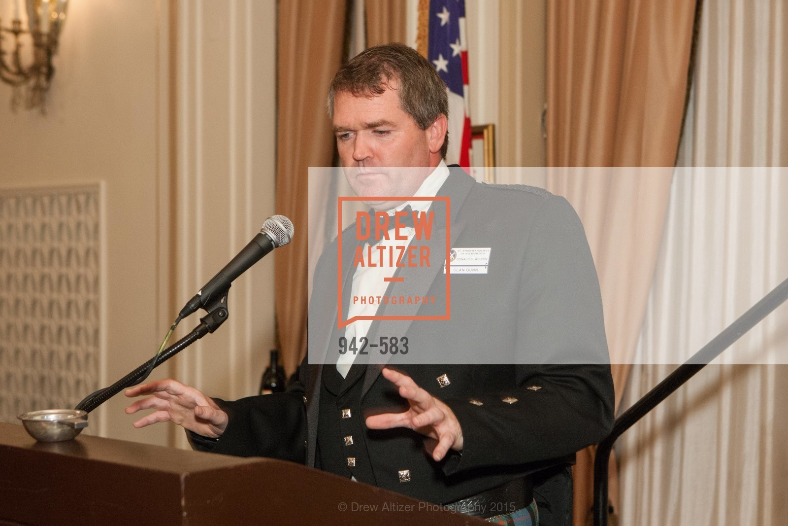 Donald Wilson, St. Andrew's Society of San Francisco Annual Banquet and Ball 2015, Marines' Memorial Club & Hotel. 609 Sutter St, November 28th, 2015,Drew Altizer, Drew Altizer Photography, full-service agency, private events, San Francisco photographer, photographer california