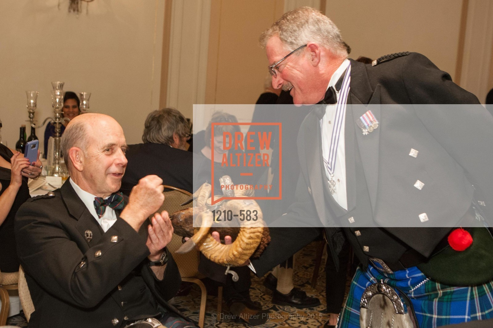Bill McKown, Fred Rutledge, St. Andrew's Society of San Francisco Annual Banquet and Ball 2015, Marines' Memorial Club & Hotel. 609 Sutter St, November 28th, 2015,Drew Altizer, Drew Altizer Photography, full-service agency, private events, San Francisco photographer, photographer california