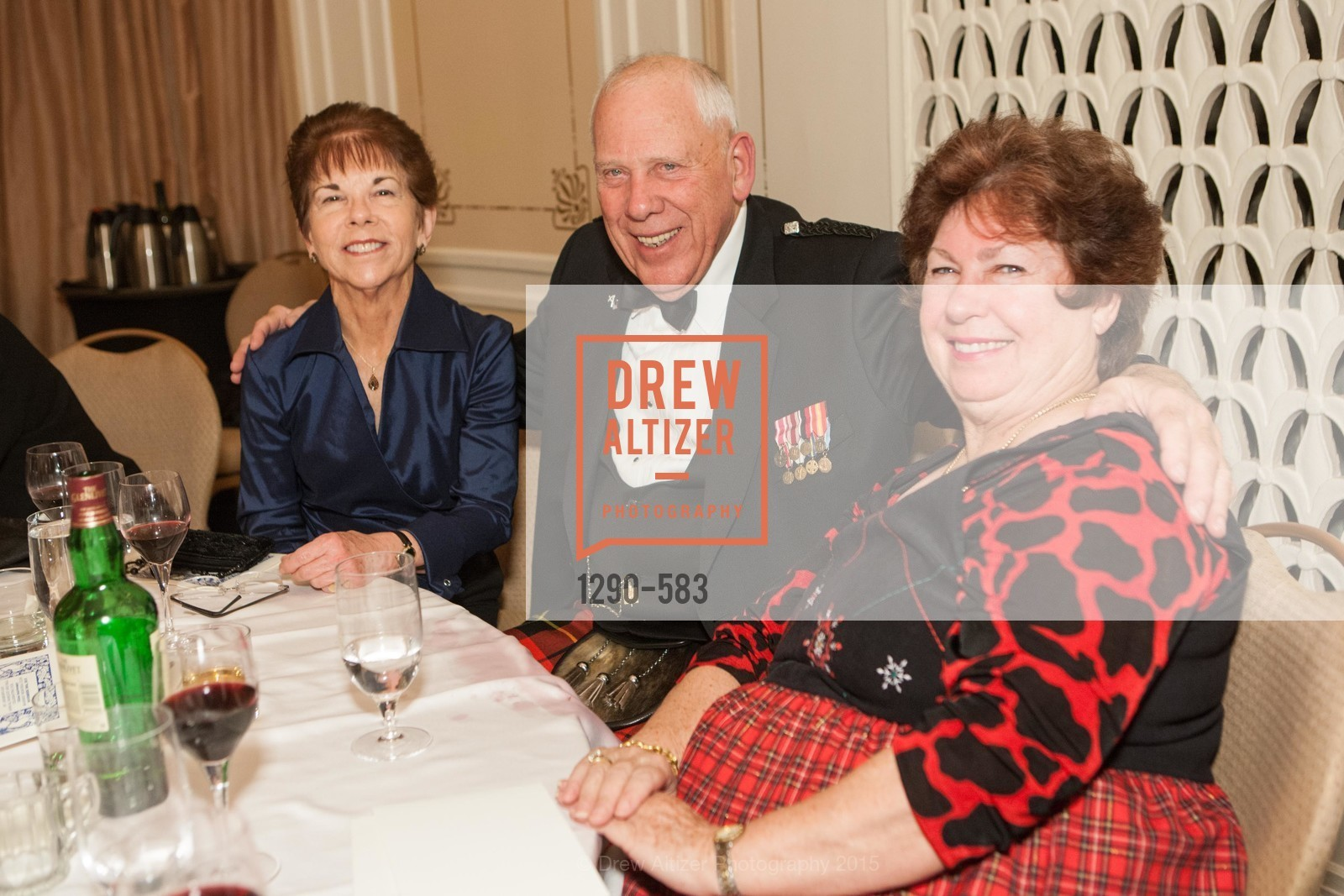 Ann Zucchi, Russ Wallace, Eleonor Elrod, St. Andrew's Society of San Francisco Annual Banquet and Ball 2015, Marines' Memorial Club & Hotel. 609 Sutter St, November 28th, 2015,Drew Altizer, Drew Altizer Photography, full-service agency, private events, San Francisco photographer, photographer california