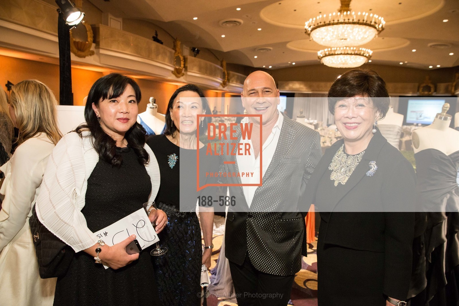 Mindy Sun, Iris Chan, Carmen Marc Valvo, Margaret Collins, 2014 Bay Area ARTHRITIS AUXILLIARY Benefit & Fashion Show, US, October 2nd, 2014,Drew Altizer, Drew Altizer Photography, full-service agency, private events, San Francisco photographer, photographer california