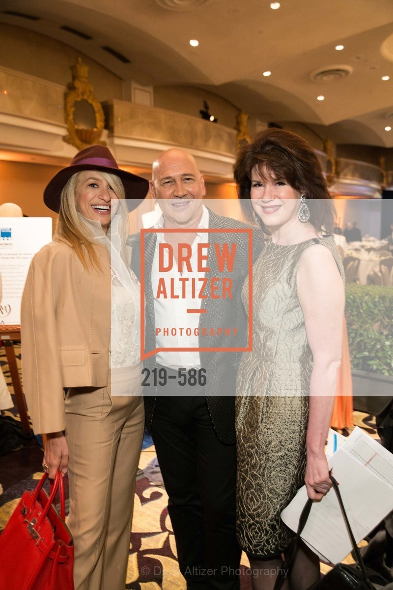Navid Armstrong, Carmen Marc Valvo, Elaine Mellis, 2014 Bay Area ARTHRITIS AUXILLIARY Benefit & Fashion Show, US, October 2nd, 2014