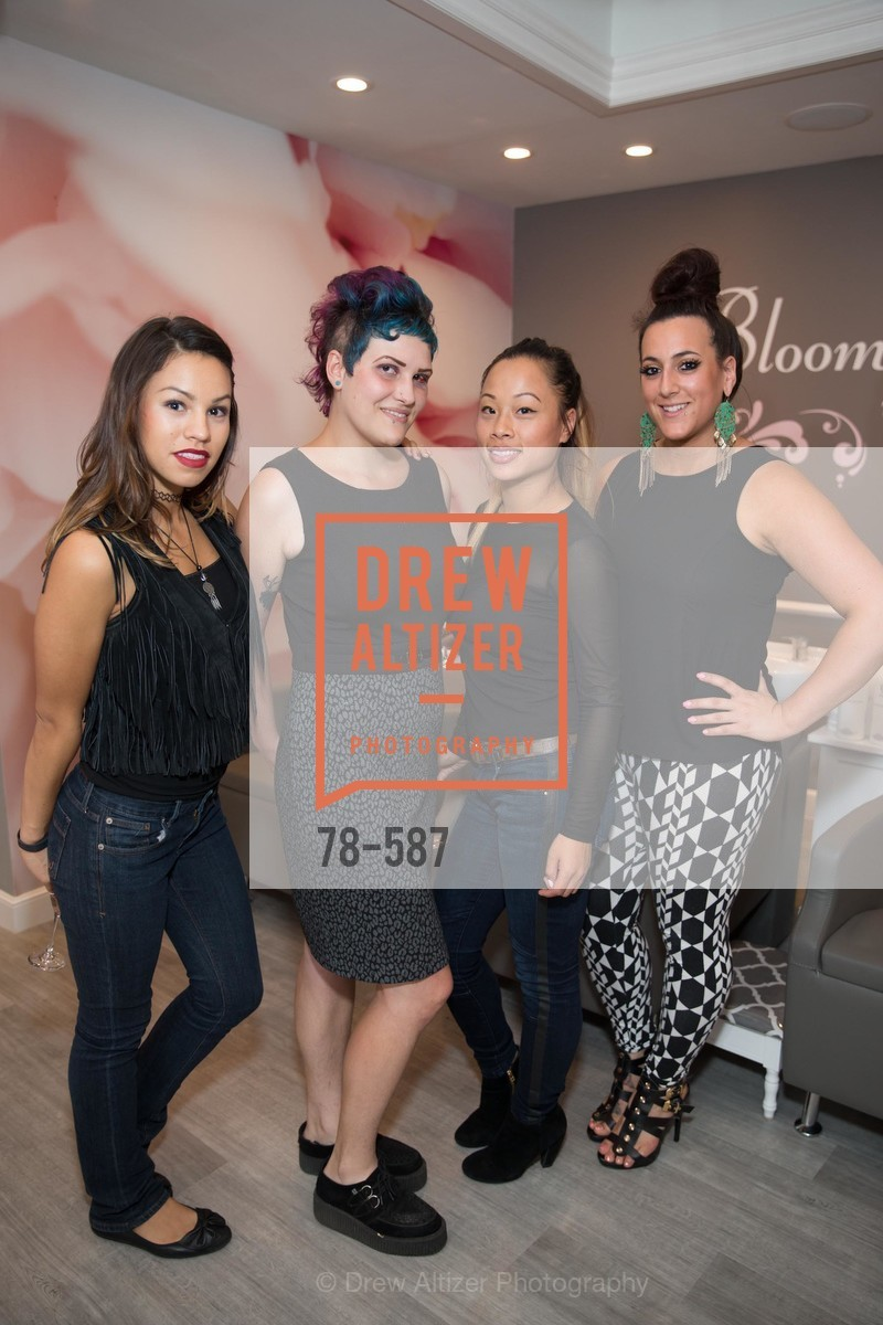 Ruby Gallardo, Cynthia Irvis, Donna Rao, Brittany Paz, BLOOM BLOW DRY BAR Grand Opening Party, US, October 2nd, 2014,Drew Altizer, Drew Altizer Photography, full-service agency, private events, San Francisco photographer, photographer california