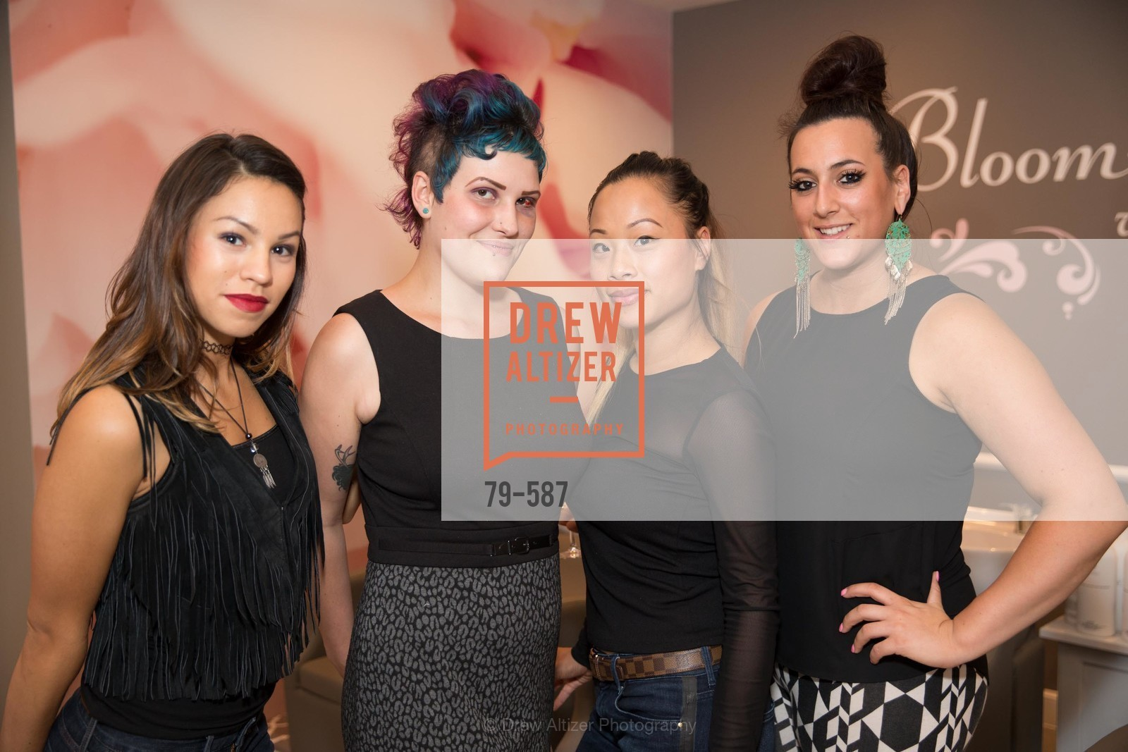Ruby Gallardo, Cynthia Irvis, Donna Rao, Brittany Paz, BLOOM BLOW DRY BAR Grand Opening Party, US, October 2nd, 2014