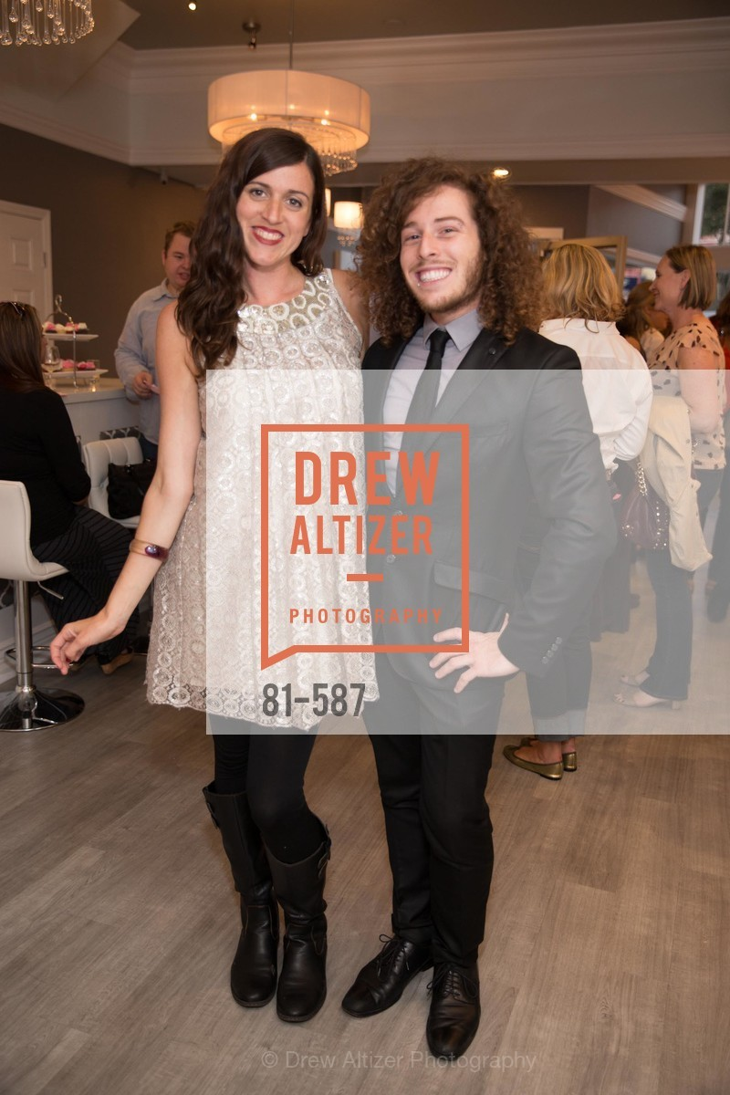 Megan Rutigliano, Aaron Gluck, BLOOM BLOW DRY BAR Grand Opening Party, US, October 2nd, 2014