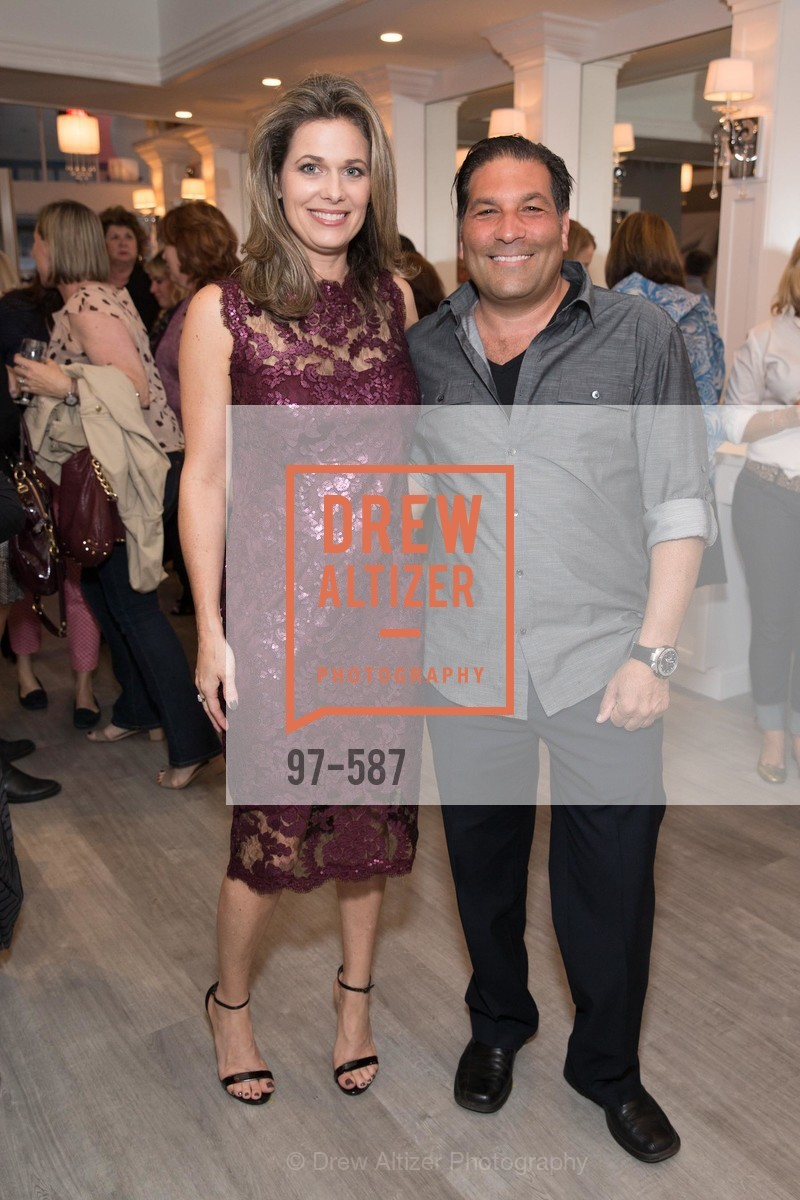 Dawn Hahn, Alessandro Miramare, BLOOM BLOW DRY BAR Grand Opening Party, US, October 2nd, 2014