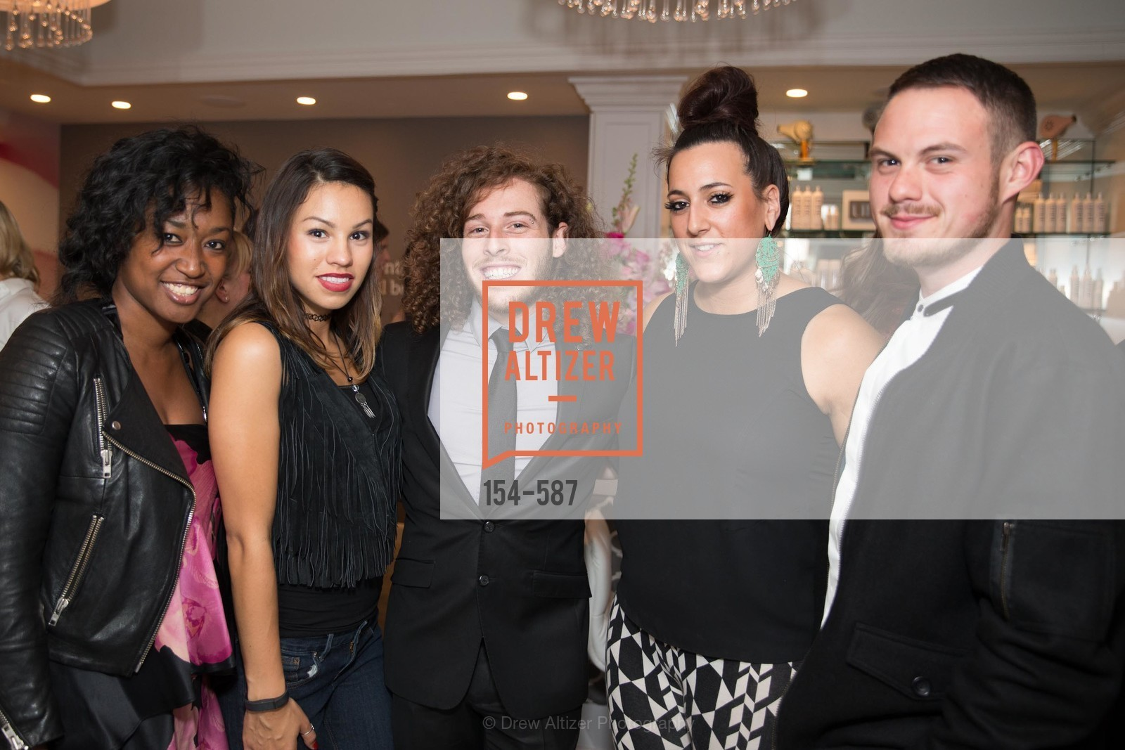 Jodi Rose, Ruby Gallardo, Aaron Gluck, Brttany Paz, Anthony Matcenas, BLOOM BLOW DRY BAR Grand Opening Party, US, October 1st, 2014,Drew Altizer, Drew Altizer Photography, full-service agency, private events, San Francisco photographer, photographer california
