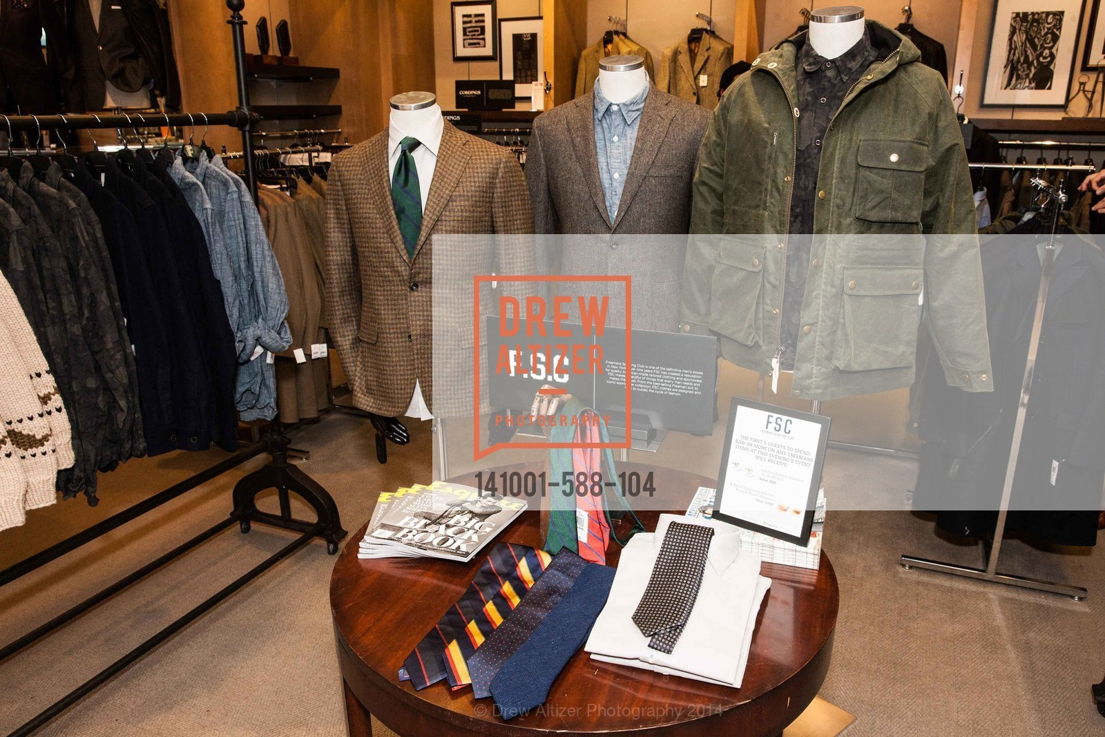 Atmosphere, ESQUIRE & BLOOMINGDALE'S SF Celebrate the Launch of FREEMANS SPORTING GOODS, October 1st, 2014, Photo,Drew Altizer, Drew Altizer Photography, full-service agency, private events, San Francisco photographer, photographer california