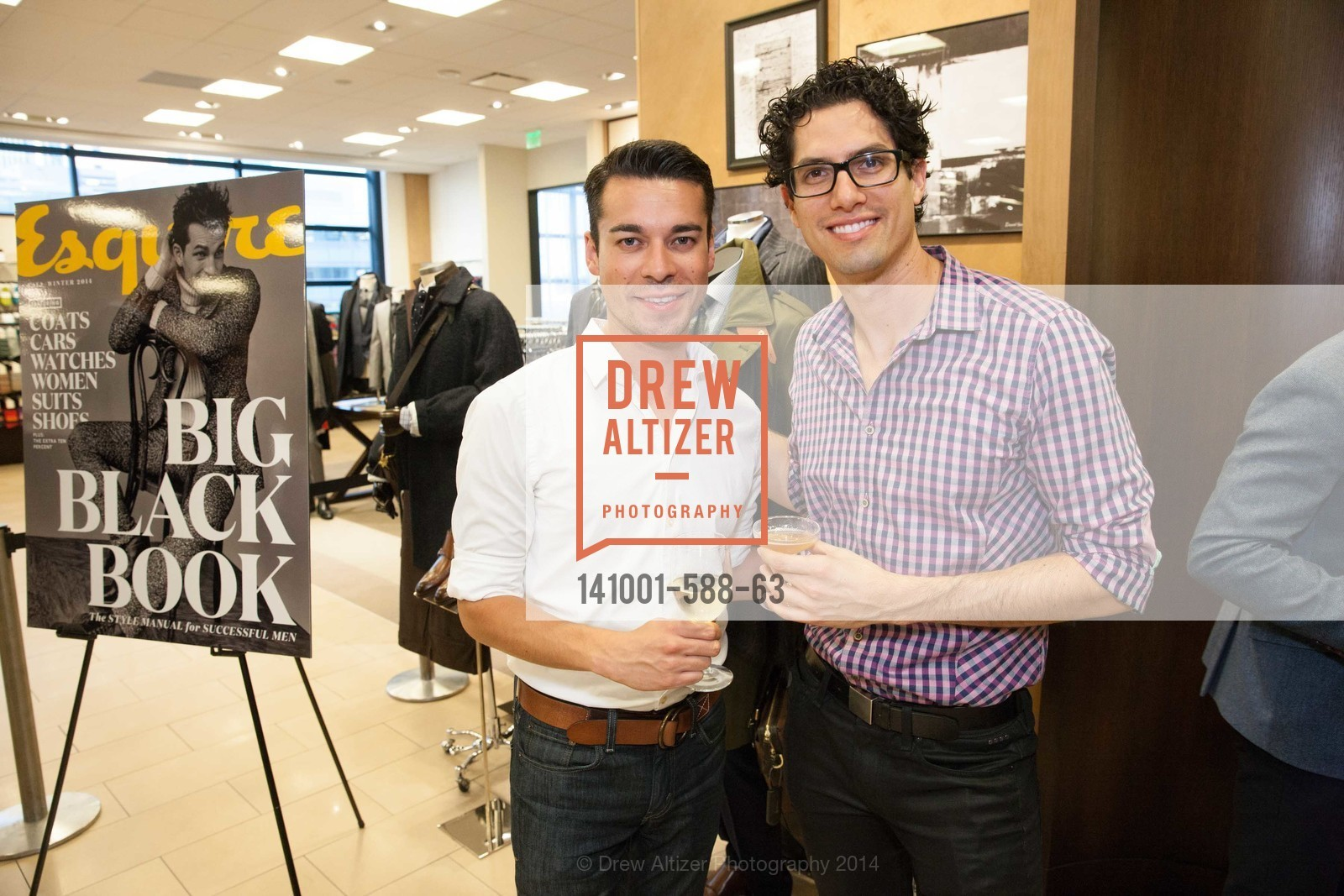 Carlos Pineda, Michael Bisera, ESQUIRE & BLOOMINGDALE'S SF Celebrate the Launch of FREEMANS SPORTING GOODS, US, October 2nd, 2014,Drew Altizer, Drew Altizer Photography, full-service agency, private events, San Francisco photographer, photographer california