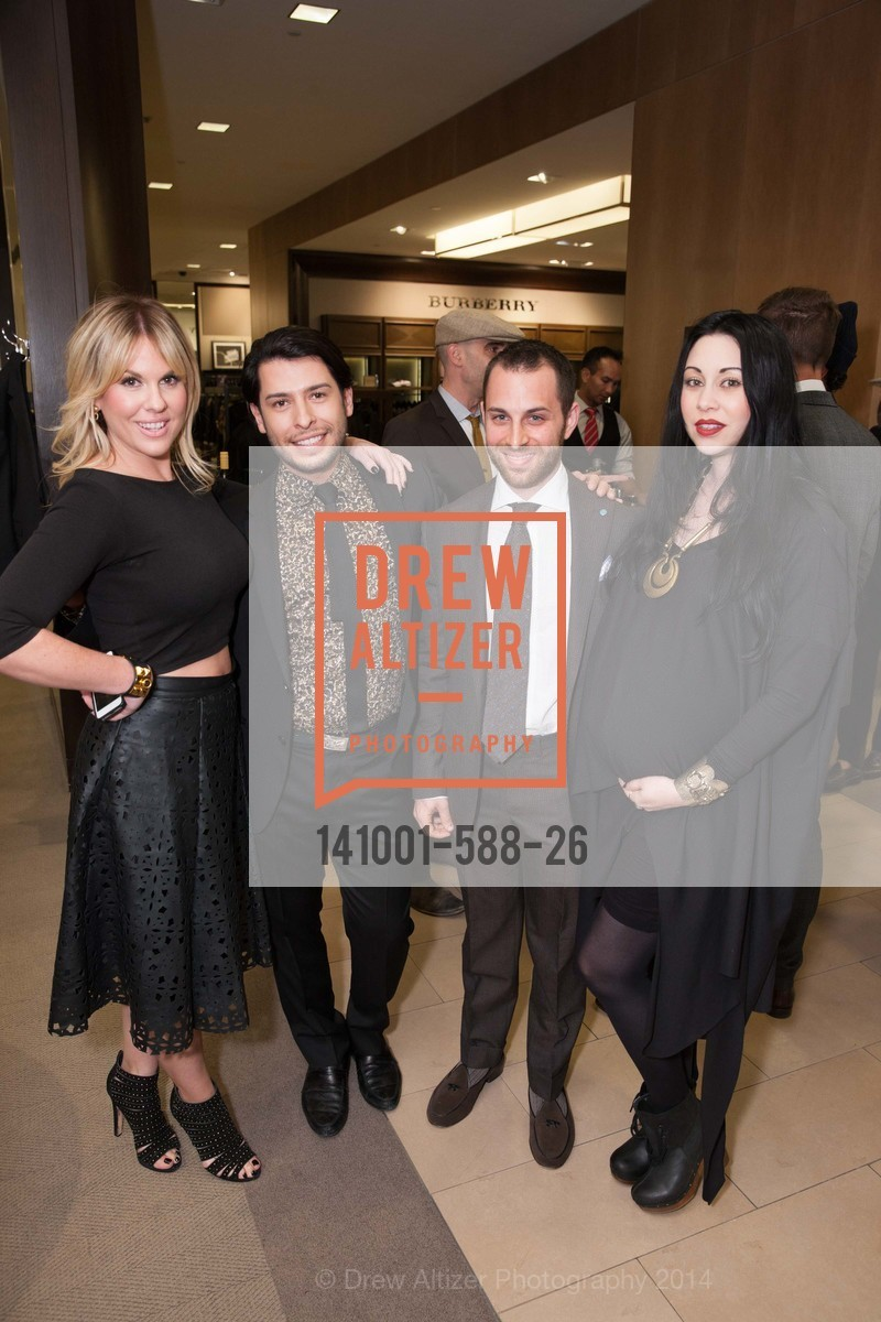 Amanda Adams, Hector Vargas, Daniel Triasi, Cati Gallardo, ESQUIRE & BLOOMINGDALE'S SF Celebrate the Launch of FREEMANS SPORTING GOODS, US, October 2nd, 2014,Drew Altizer, Drew Altizer Photography, full-service agency, private events, San Francisco photographer, photographer california