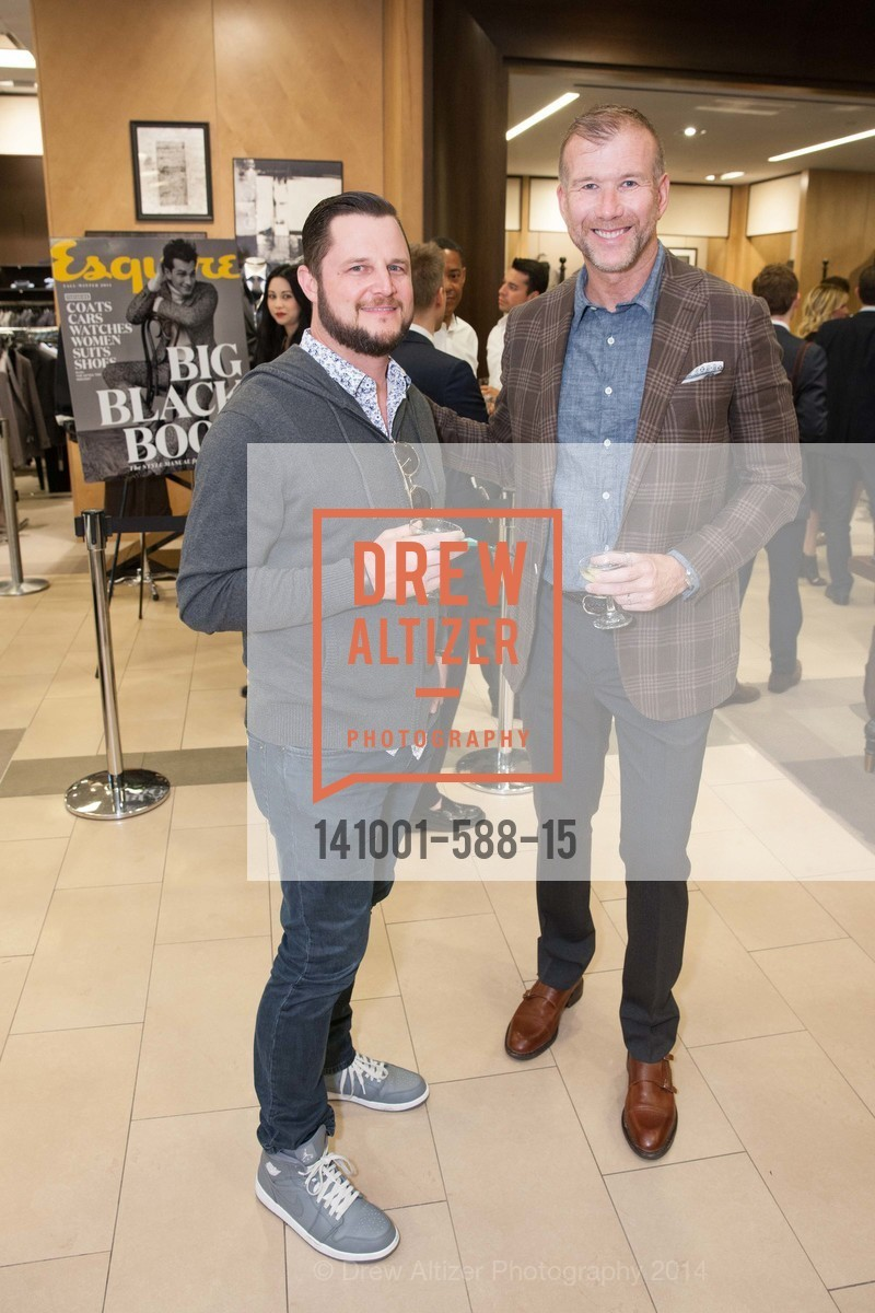 Colin Gillooly, Kevin Harter, ESQUIRE & BLOOMINGDALE'S SF Celebrate the Launch of FREEMANS SPORTING GOODS, US, October 2nd, 2014,Drew Altizer, Drew Altizer Photography, full-service agency, private events, San Francisco photographer, photographer california