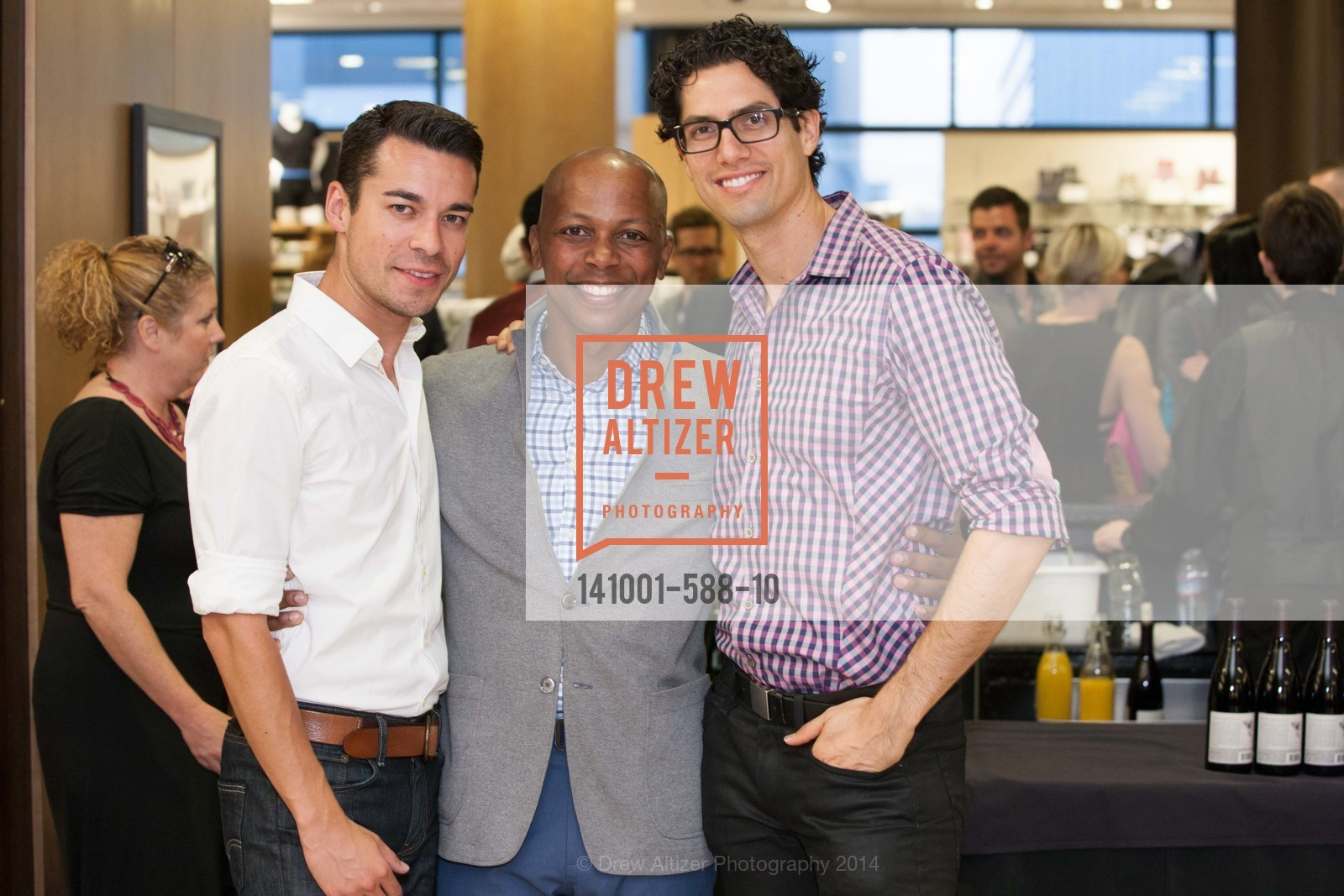 Carlos Pineda, Shaun Saunders, Michael Bisera, ESQUIRE & BLOOMINGDALE'S SF Celebrate the Launch of FREEMANS SPORTING GOODS, US, October 2nd, 2014,Drew Altizer, Drew Altizer Photography, full-service agency, private events, San Francisco photographer, photographer california