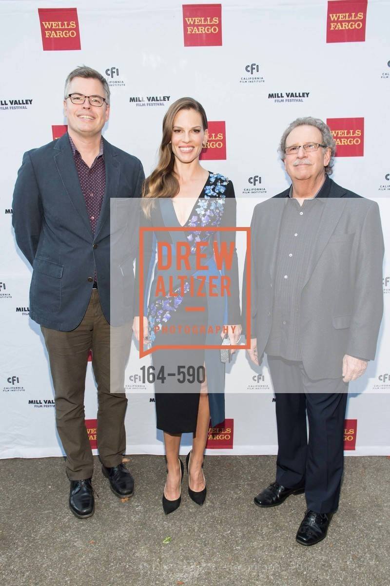 Eric D'Arbeloff, Hilary Swank, Mark Fishkin, Mill Valley Film Festival Opening Night, US, October 3rd, 2014,Drew Altizer, Drew Altizer Photography, full-service agency, private events, San Francisco photographer, photographer california