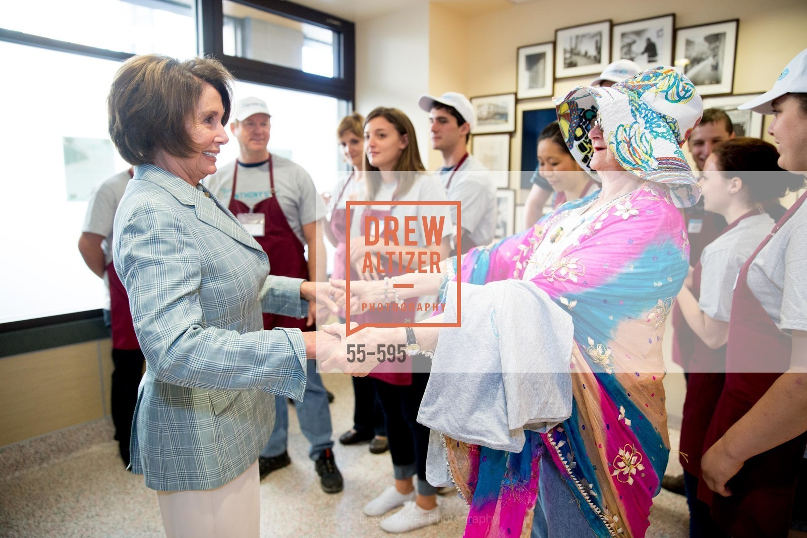Nancy Pelosi, ST. ANTHONY'S Dining Room Ribbon Cutting Ceremony, US, October 5th, 2014,Drew Altizer, Drew Altizer Photography, full-service event agency, private events, San Francisco photographer, photographer California