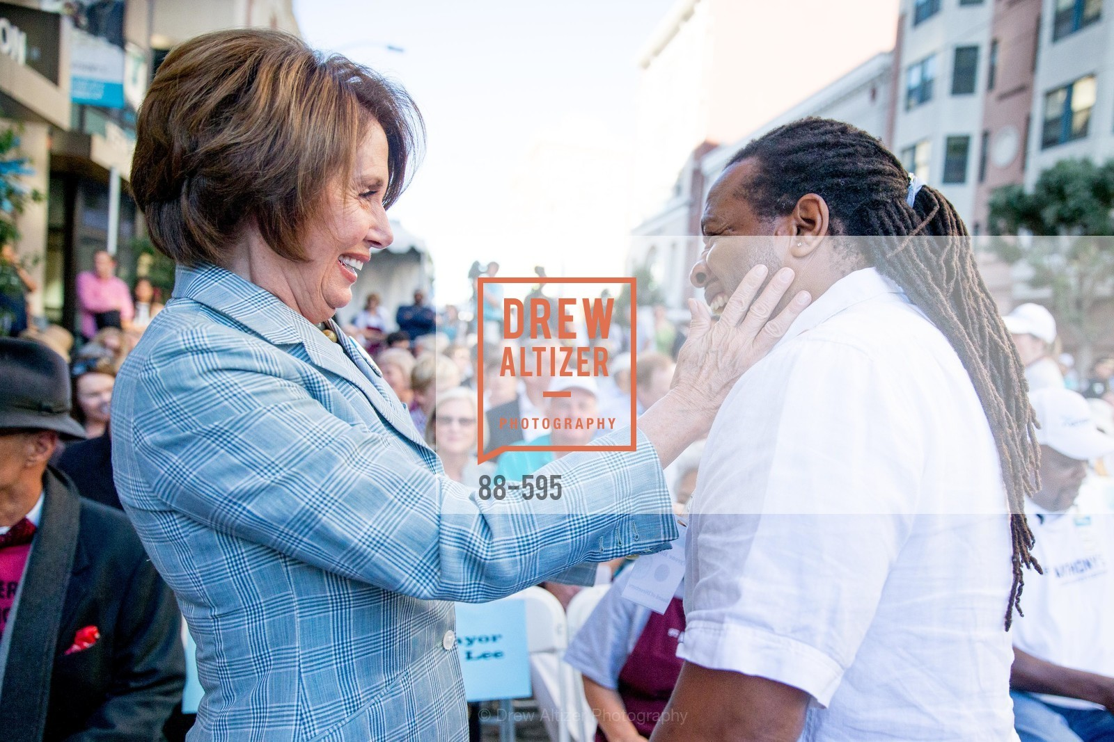 Nancy Pelosi, Tyrone Hopper, ST. ANTHONY'S Dining Room Ribbon Cutting Ceremony, US, October 5th, 2014,Drew Altizer, Drew Altizer Photography, full-service agency, private events, San Francisco photographer, photographer california
