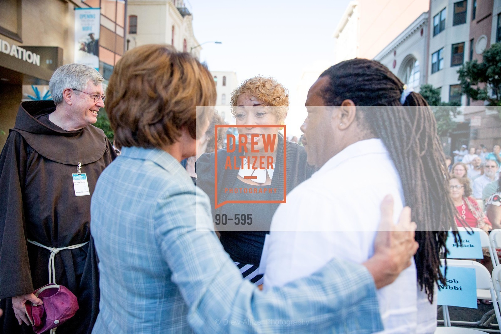 The Honorable Nancy Pelosi, Karen Hopper, Tyrone Hopper, ST. ANTHONY'S Dining Room Ribbon Cutting Ceremony, US, October 4th, 2014,Drew Altizer, Drew Altizer Photography, full-service agency, private events, San Francisco photographer, photographer california