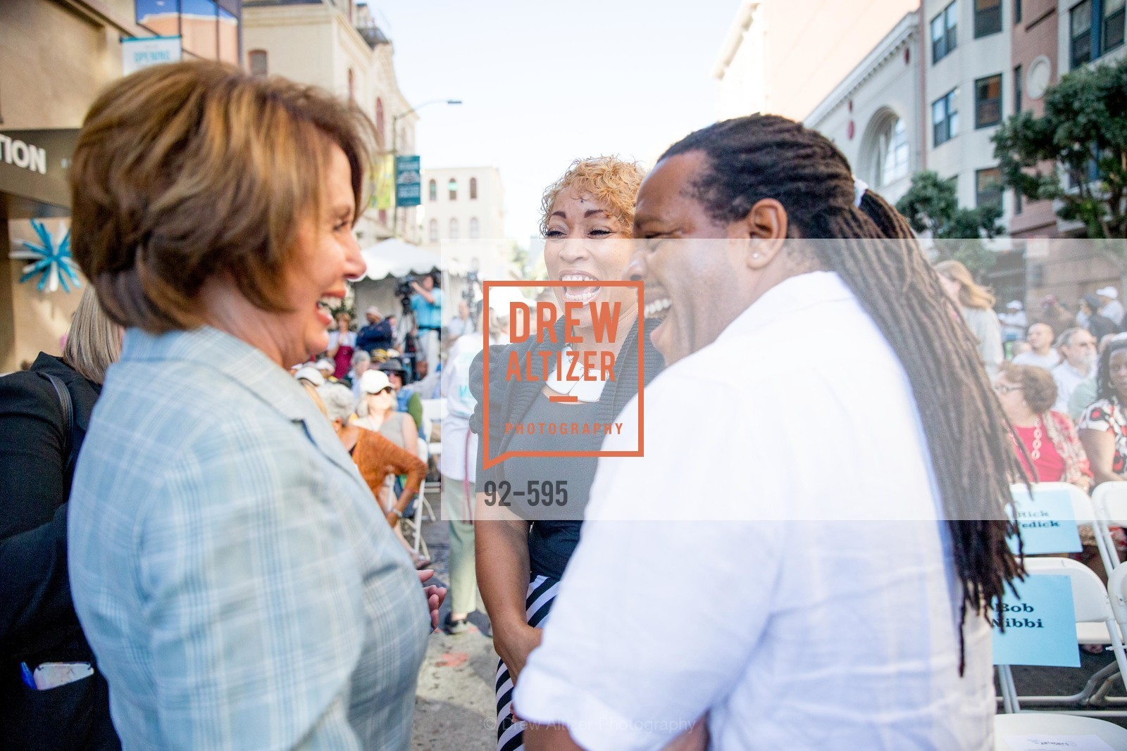 Nancy Pelosi, Karen Hopper, Tyrone Hopper, ST. ANTHONY'S Dining Room Ribbon Cutting Ceremony, US, October 5th, 2014,Drew Altizer, Drew Altizer Photography, full-service agency, private events, San Francisco photographer, photographer california
