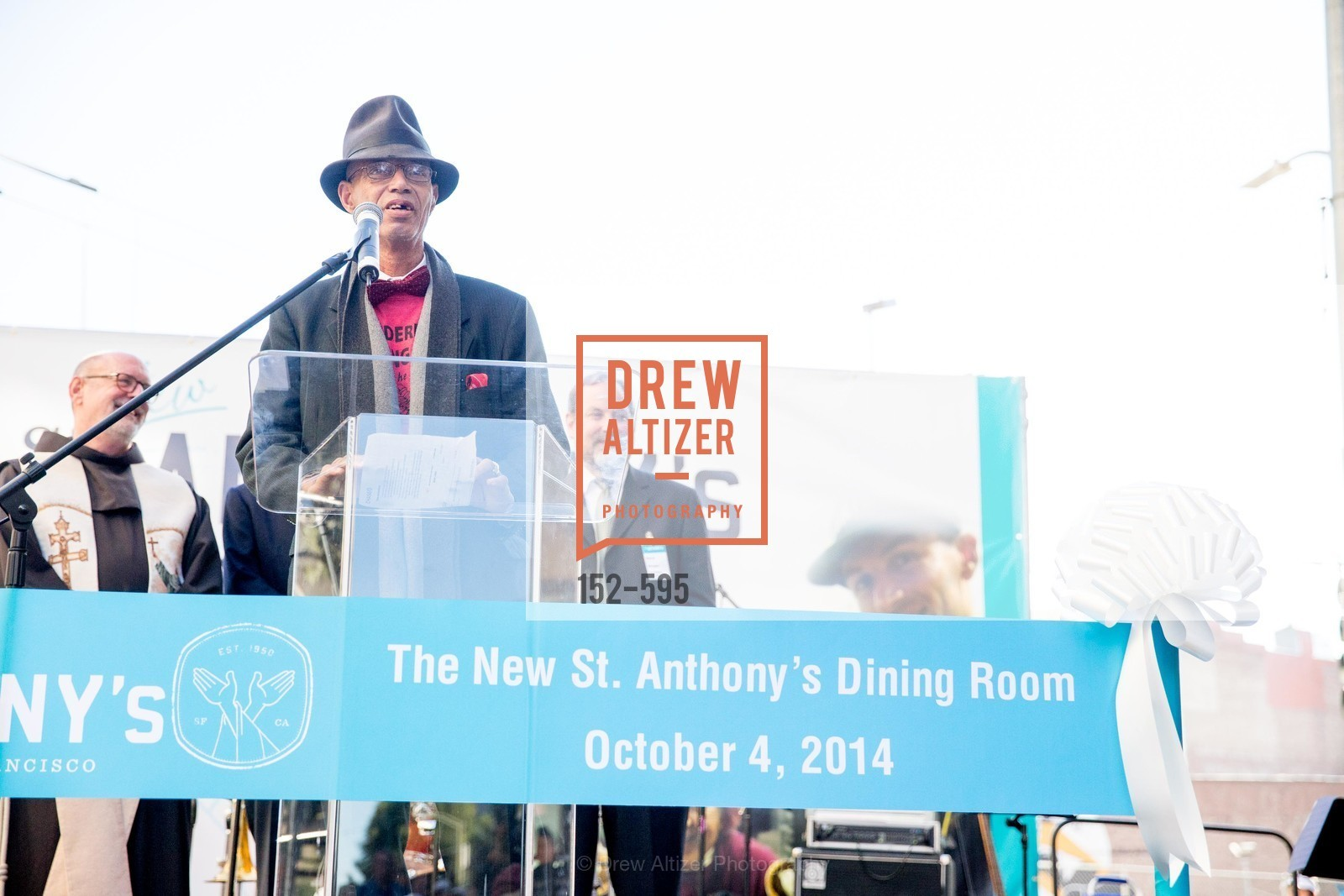 Del Seymour, ST. ANTHONY'S Dining Room Ribbon Cutting Ceremony, US, October 4th, 2014,Drew Altizer, Drew Altizer Photography, full-service agency, private events, San Francisco photographer, photographer california