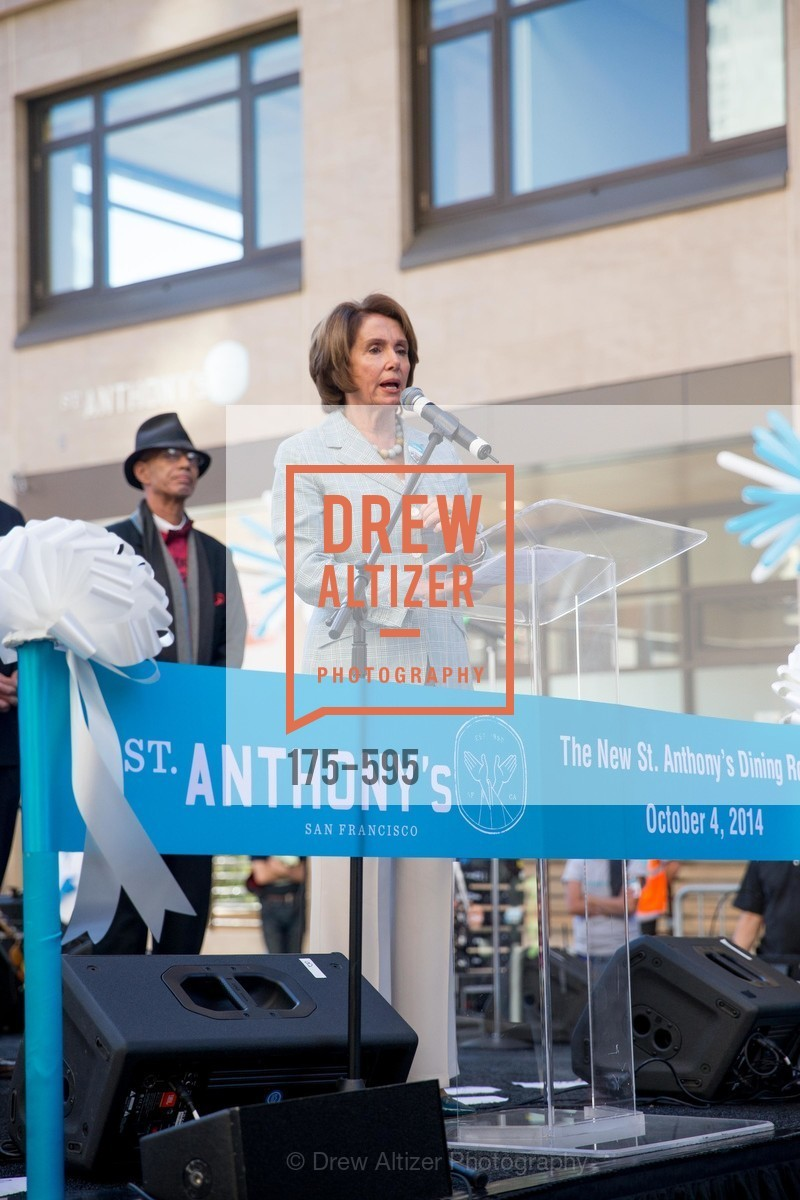 Nancy Pelosi, ST. ANTHONY'S Dining Room Ribbon Cutting Ceremony, US, October 5th, 2014,Drew Altizer, Drew Altizer Photography, full-service agency, private events, San Francisco photographer, photographer california