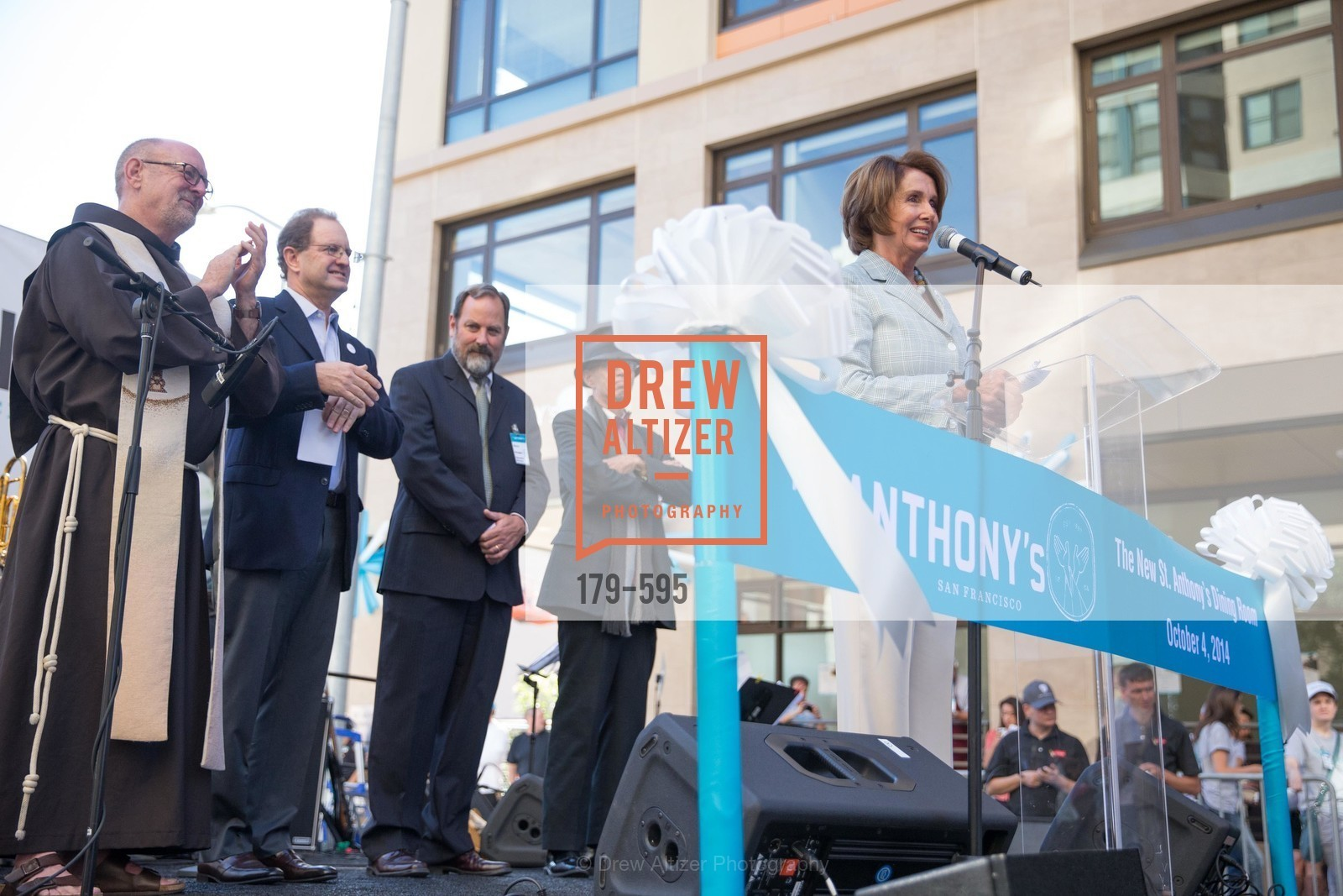 The Honorable Nancy Pelosi, ST. ANTHONY'S Dining Room Ribbon Cutting Ceremony, US, October 4th, 2014,Drew Altizer, Drew Altizer Photography, full-service agency, private events, San Francisco photographer, photographer california