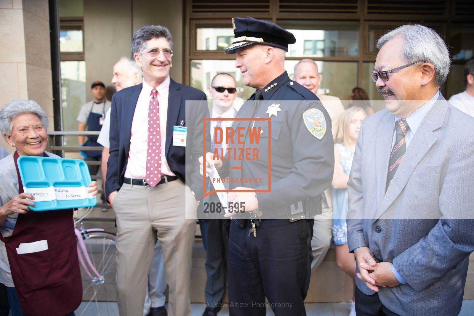 Carmelita Lozano, Dennis Aftergut, Greg Suhr, Ed Lee, ST. ANTHONY'S Dining Room Ribbon Cutting Ceremony, US, October 5th, 2014,Drew Altizer, Drew Altizer Photography, full-service agency, private events, San Francisco photographer, photographer california