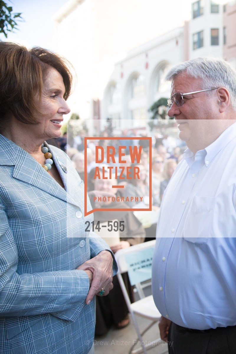 Nancy Pelosi, Larry Nibbi, ST. ANTHONY'S Dining Room Ribbon Cutting Ceremony, US, October 5th, 2014,Drew Altizer, Drew Altizer Photography, full-service agency, private events, San Francisco photographer, photographer california