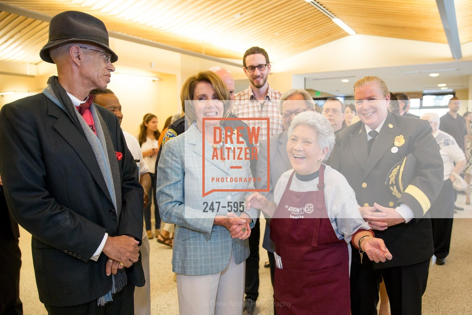 Del Seymour, Nancy Pelosi, Carmelita Lozano, Joanne Hayes-White, ST. ANTHONY'S Dining Room Ribbon Cutting Ceremony, US, October 5th, 2014